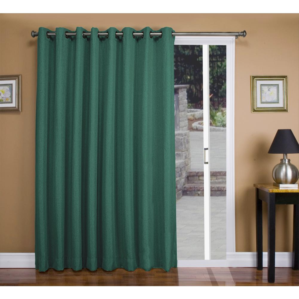 Ricardo Trading Tacoma 106 In. W X 84 In. L Polyester Double Blackout  Grommet Patio Panel In Woodland Green within Tacoma Double-Blackout Grommet Curtain Panels (Image 14 of 30)