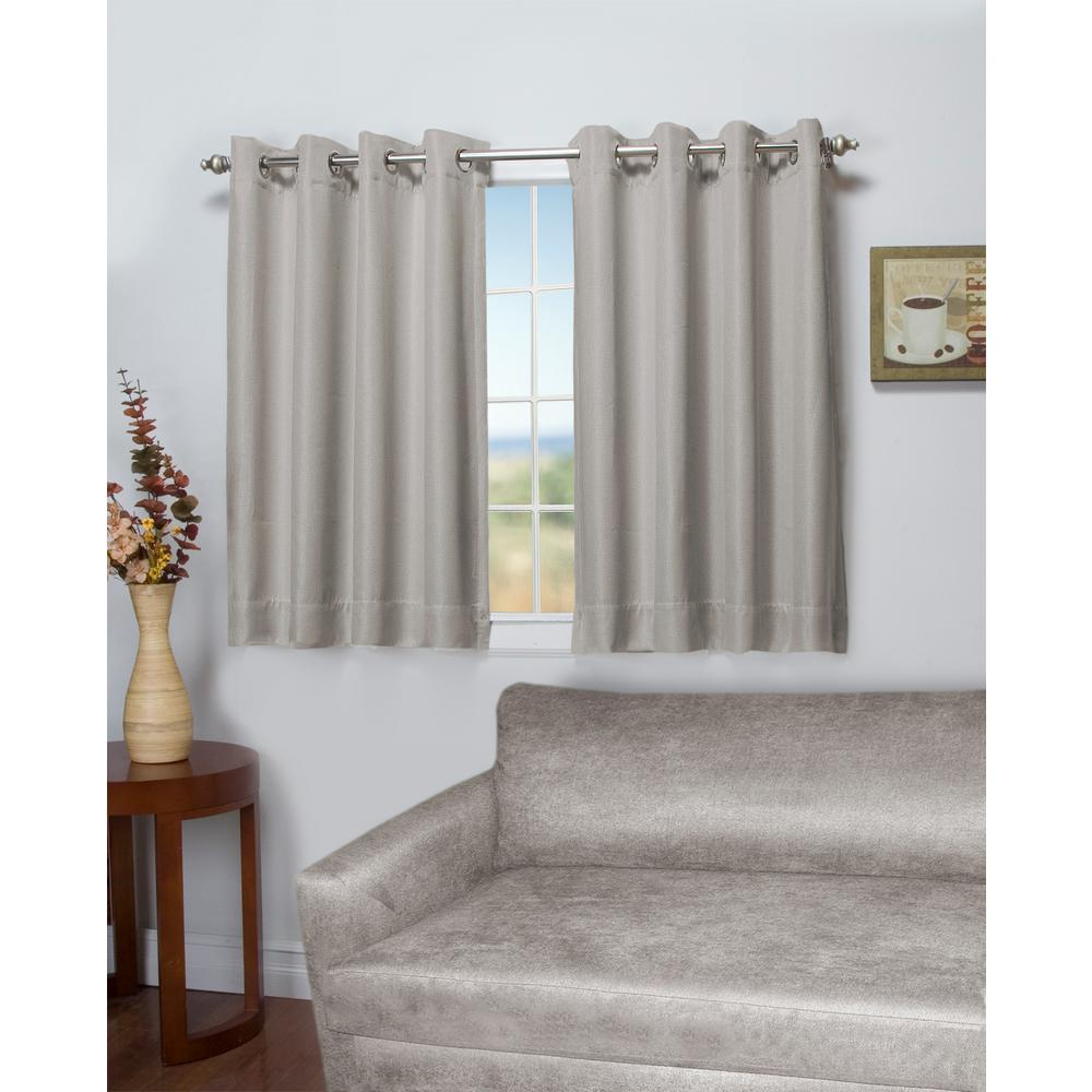 Ricardo Trading Tacoma 50 In. W X 45 In. L Polyester Double Blackout  Grommet Window Panel In Stone In Ultimate Blackout Short Length Grommet Panels (Photo 18 of 30)