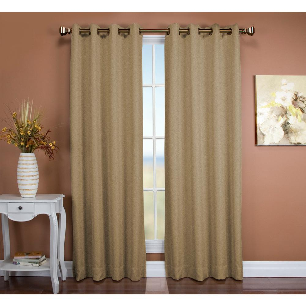 Ricardo Trading Tacoma 50 In. W X 96 In. L Polyester Double Blackout  Grommet Window Panel In Driftwood For Tacoma Double Blackout Grommet Curtain Panels (Gallery 4 of 30)