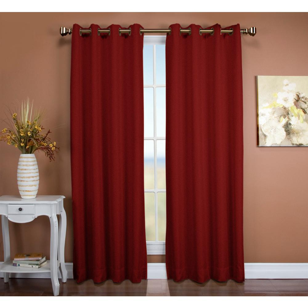 Ricardo Trading Tacoma 50 In. W X 96 In. L Polyester Double Blackout  Grommet Window Panel In Floral Rose Inside Tacoma Double Blackout Grommet Curtain Panels (Gallery 7 of 30)