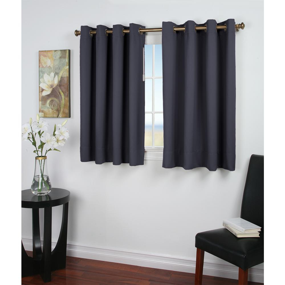 Ricardo Trading Ultimate Blackout 56 In. W X 45 In. L Polyester Short  Length Blackout Window Panel In Blue In Ultimate Blackout Short Length Grommet Curtain Panels (Gallery 1 of 30)