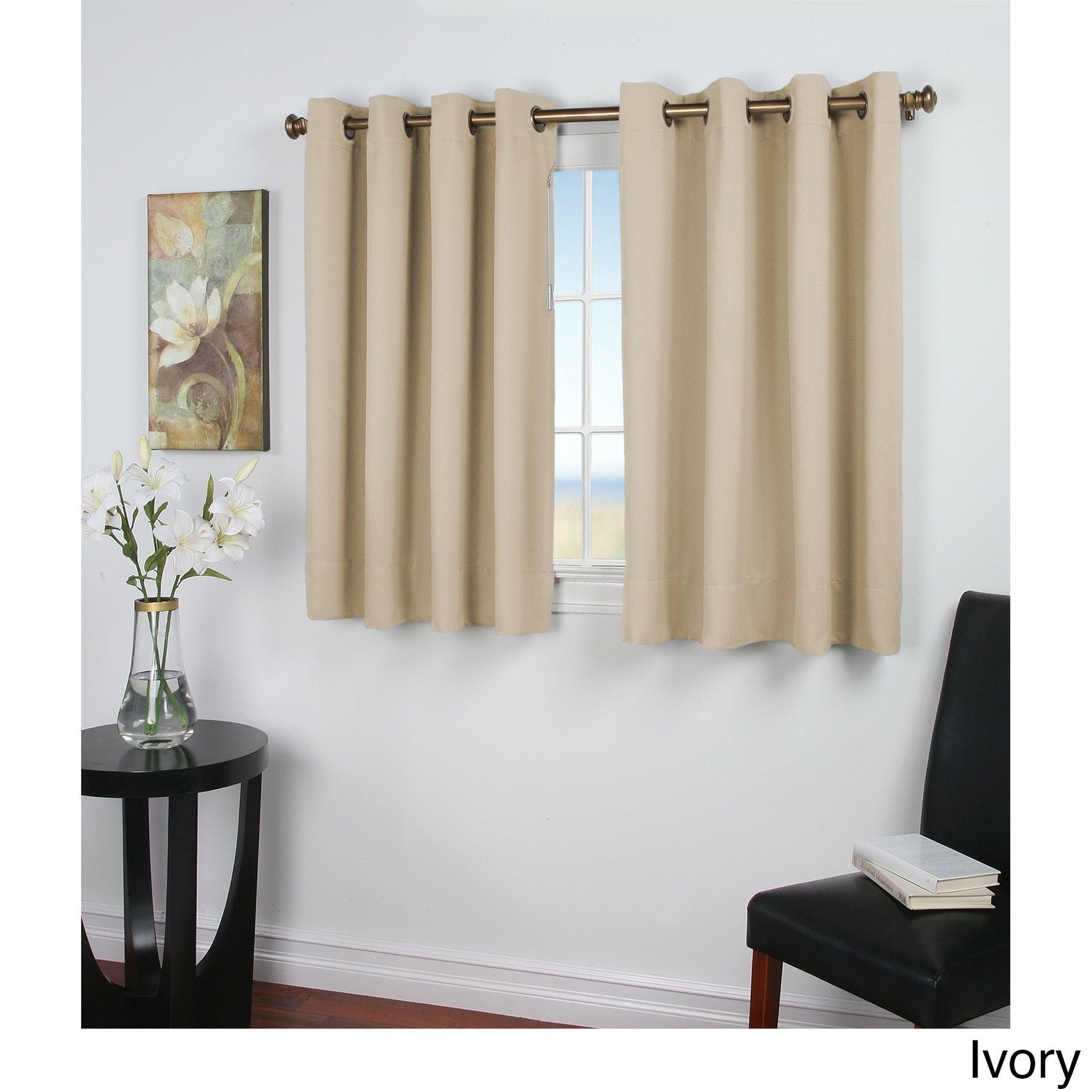 Ricardo Ultimate Blackout 45-Inch Length Grommet Curtain with Tacoma Double-Blackout Grommet Curtain Panels (Image 17 of 30)