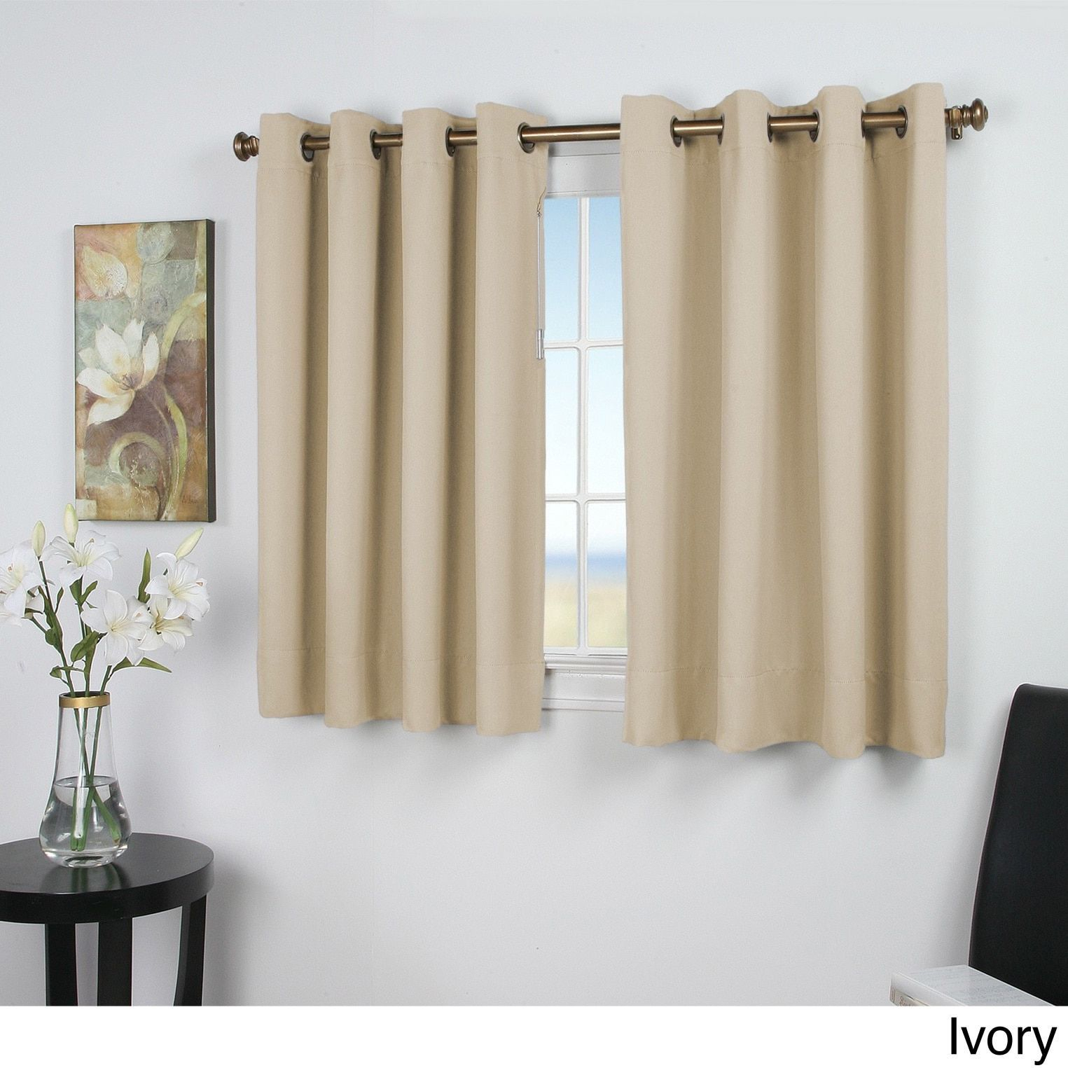 Ricardo Ultimate Blackout 54 Inch Short Length Grommet Panel For Ultimate Blackout Short Length Grommet Curtain Panels (Gallery 5 of 30)