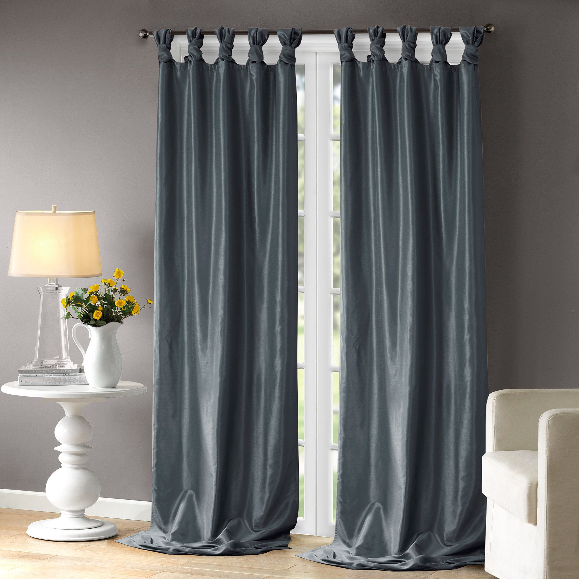 Rivau Solid Regular Tab Top Curtain Panels | Products | Tab For Tab Top Sheer Single Curtain Panels (View 13 of 30)