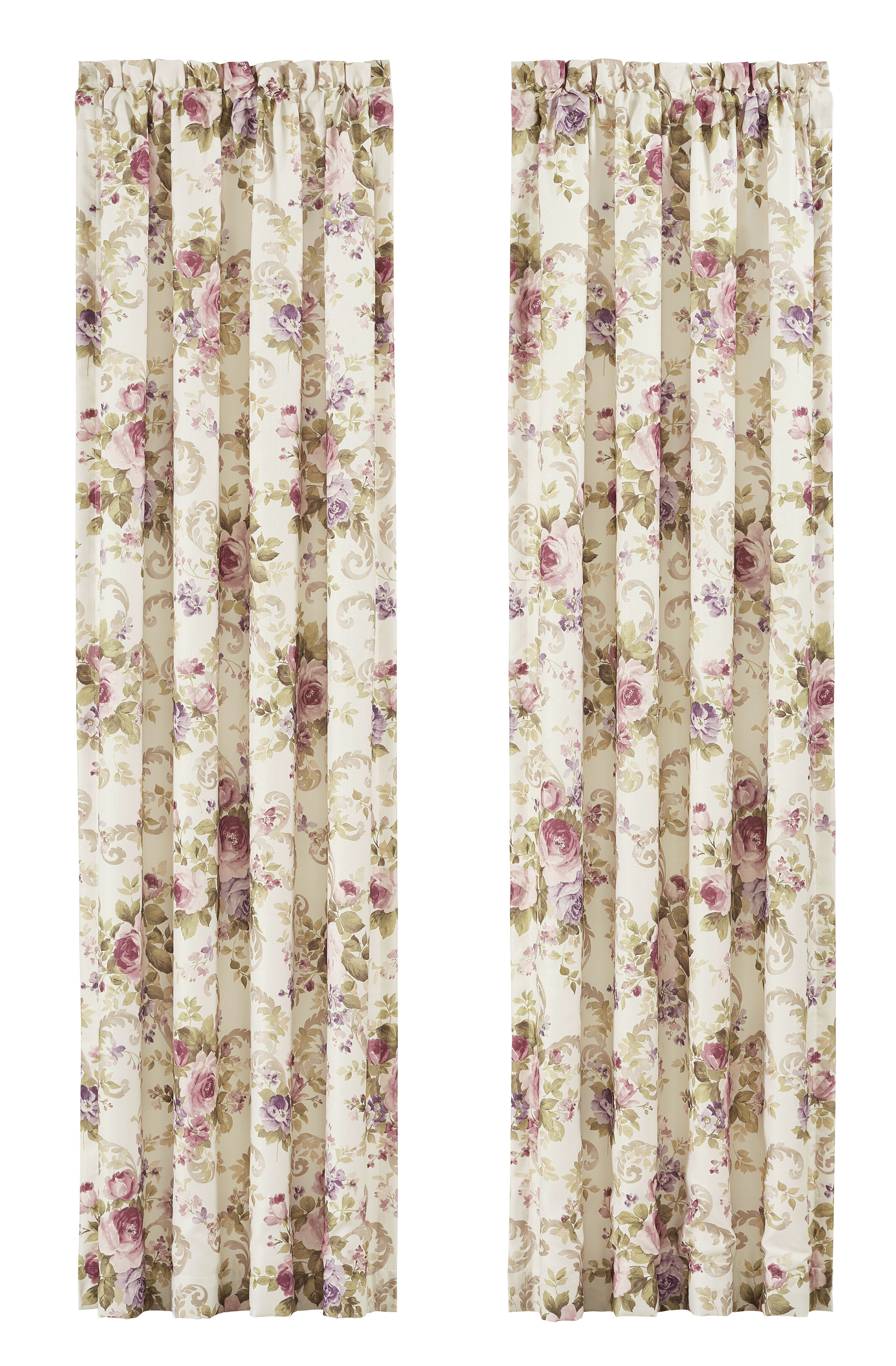 Ronaldo Window Floral / Flower Room Darkening Rod Pocket Curtain Panels inside Floral Pattern Room Darkening Window Curtain Panel Pairs (Image 20 of 20)