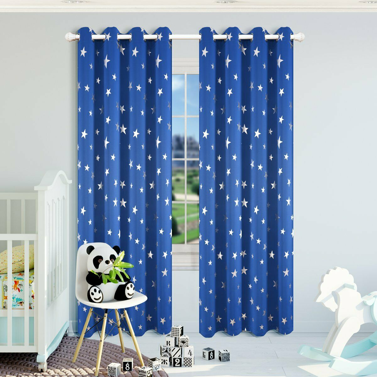 Room Darkening Star Curtains Thermal Insulated Window Curtains For Kids Bedroom For The Gray Barn Kind Koala Curtain Panel Pairs (View 21 of 30)