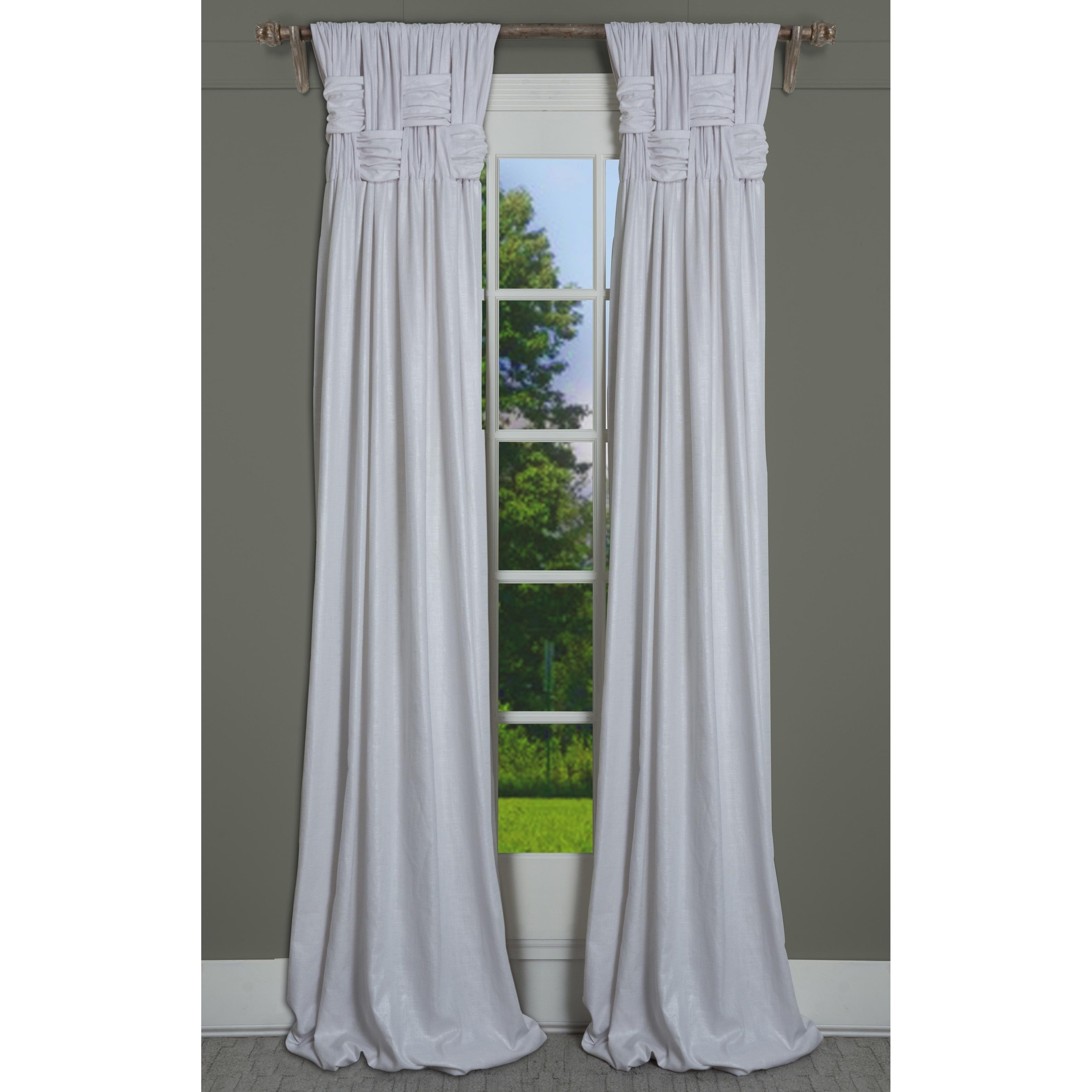 Rt Dressings Chelsea Brook Lustre Cotton Metallic Single Curtain Panel Inside Single Curtain Panels (Gallery 31 of 31)