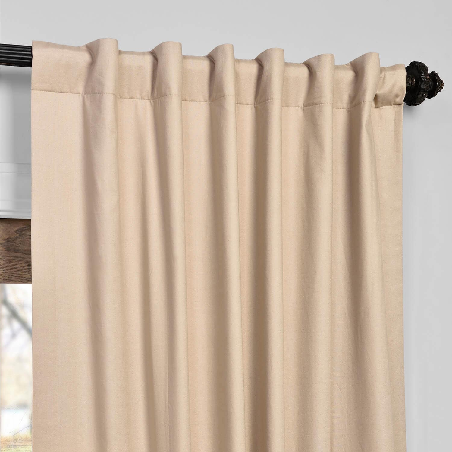 Rugged Tan Solid Cotton Blackout Curtain Inside Solid Cotton True Blackout Curtain Panels (View 8 of 30)