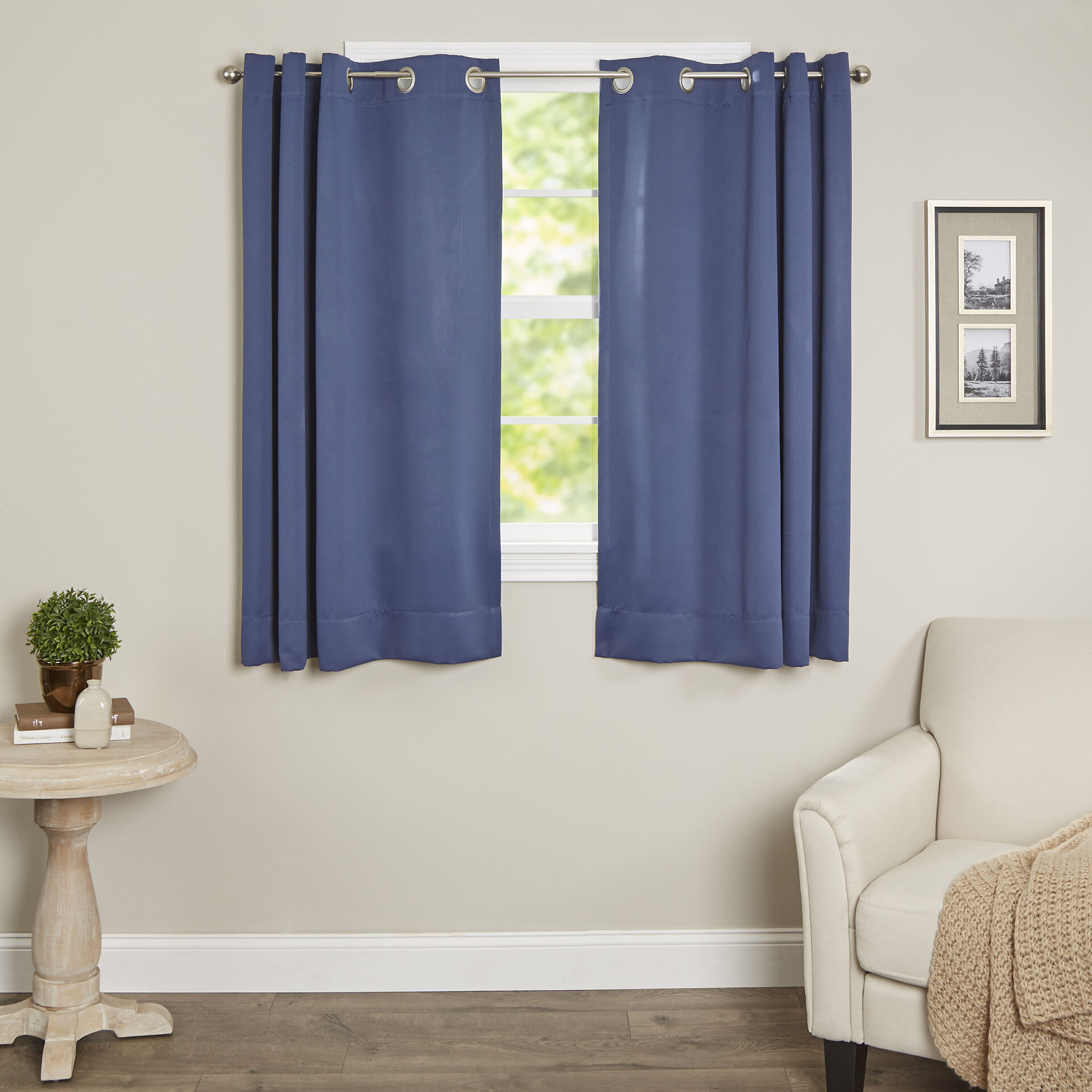 Sallie Short Solid Blackout Thermal Grommet Single Curtain Panel Pertaining To Woven Blackout Curtain Panel Pairs With Grommet Top (View 17 of 30)