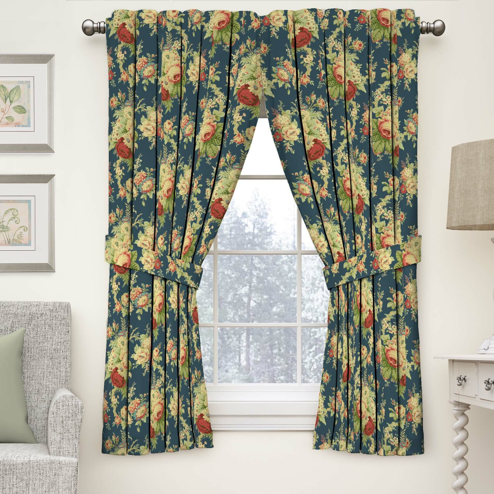 Sanctuary Rose Nature/floral Semi Sheer Rod Pocket Single Curtain Panel Regarding Luxury Collection Summit Sheer Curtain Panel Pairs (View 9 of 20)