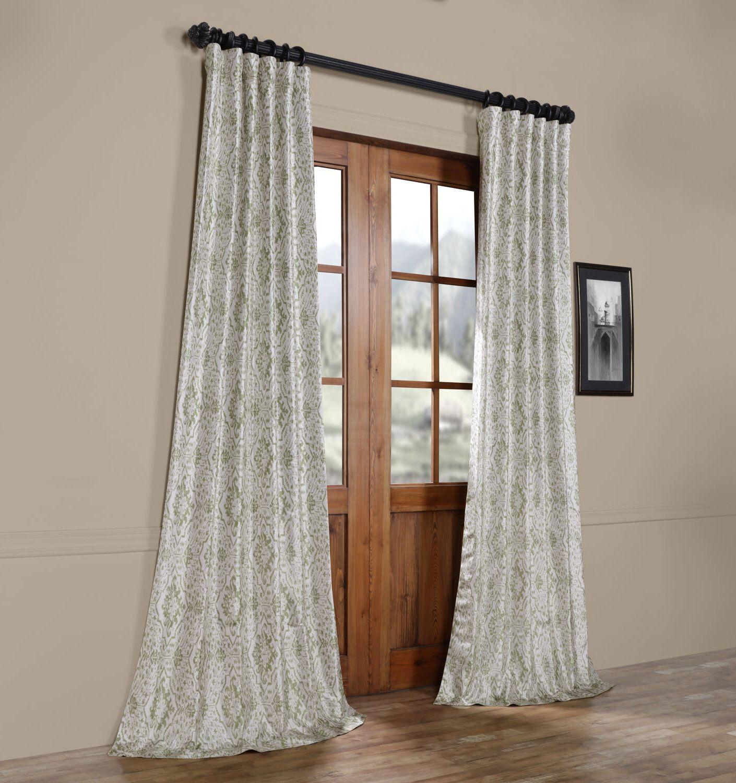 Sandee Printed Faux Silk Taffeta Blackout Single Curtain Regarding Faux Silk Taffeta Solid Blackout Single Curtain Panels (View 19 of 20)