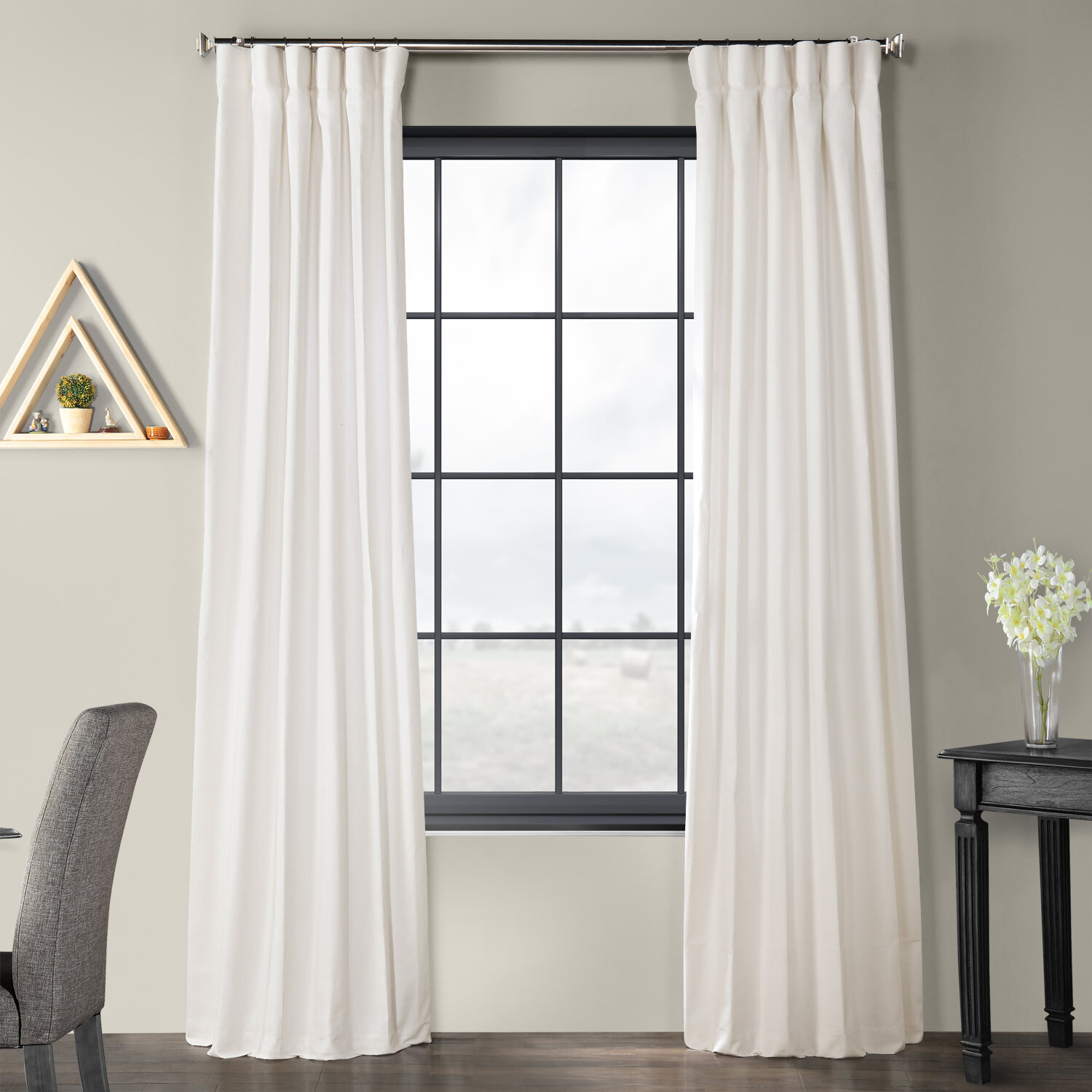 Sanger Solid Country Cotton Linen Weave Rod Pocket Single Curtain Panel Regarding Solid Country Cotton Linen Weave Curtain Panels (View 3 of 30)