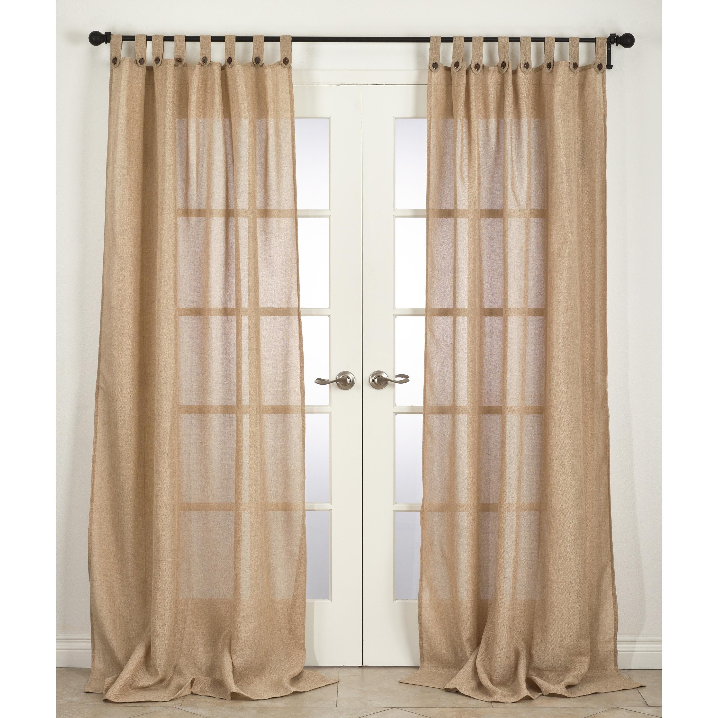 Saro Classic Solid Semi Sheer Tab Top Single Curtain Panel For Tab Top Sheer Single Curtain Panels (View 27 of 30)