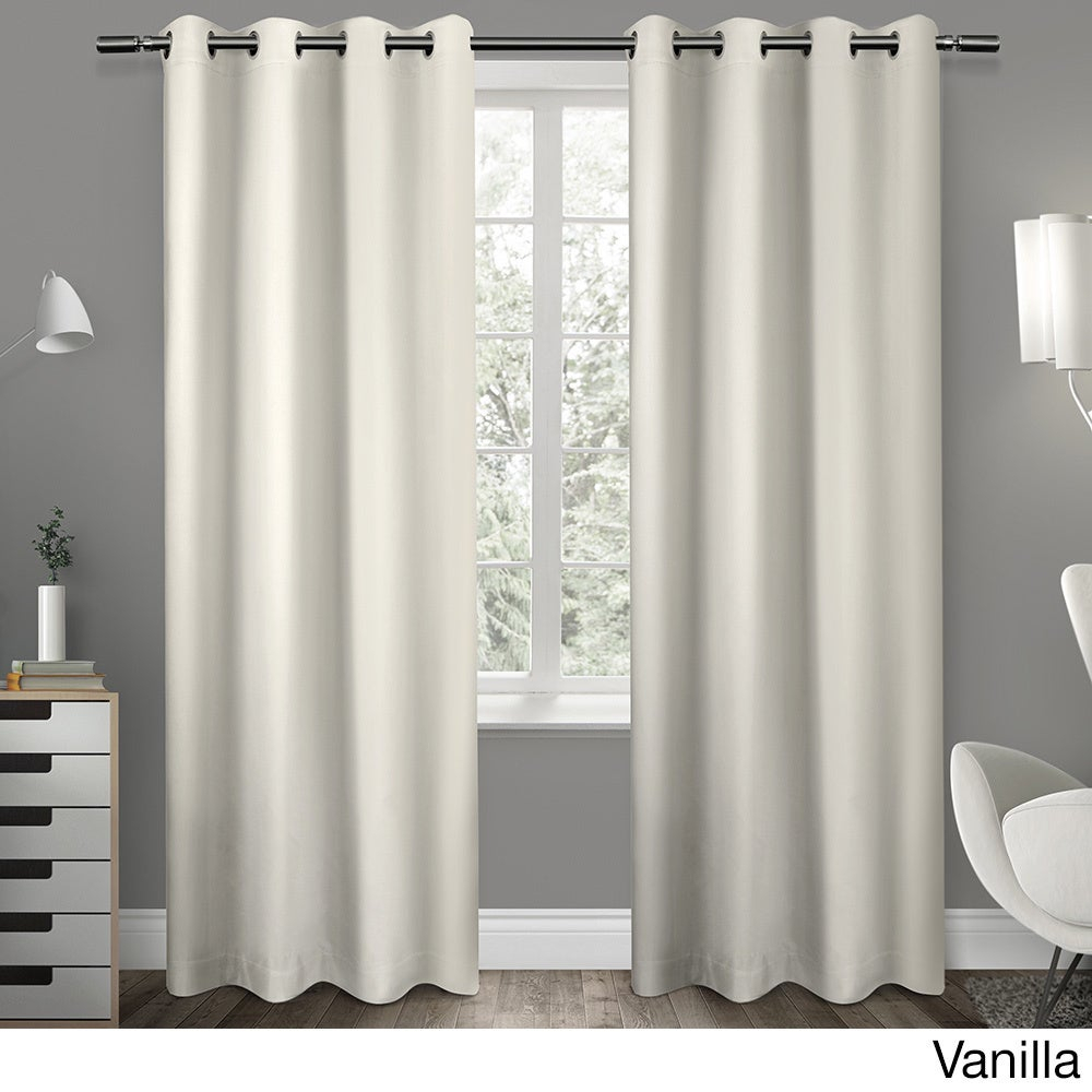 """Sateen Twill Weave Insulated Blackout Window Curtain Panel (Pair) 63"""" In Vanilla (As Is Item) Throughout Sateen Twill Weave Insulated Blackout Window Curtain Panel Pairs (View 14 of 20)"""