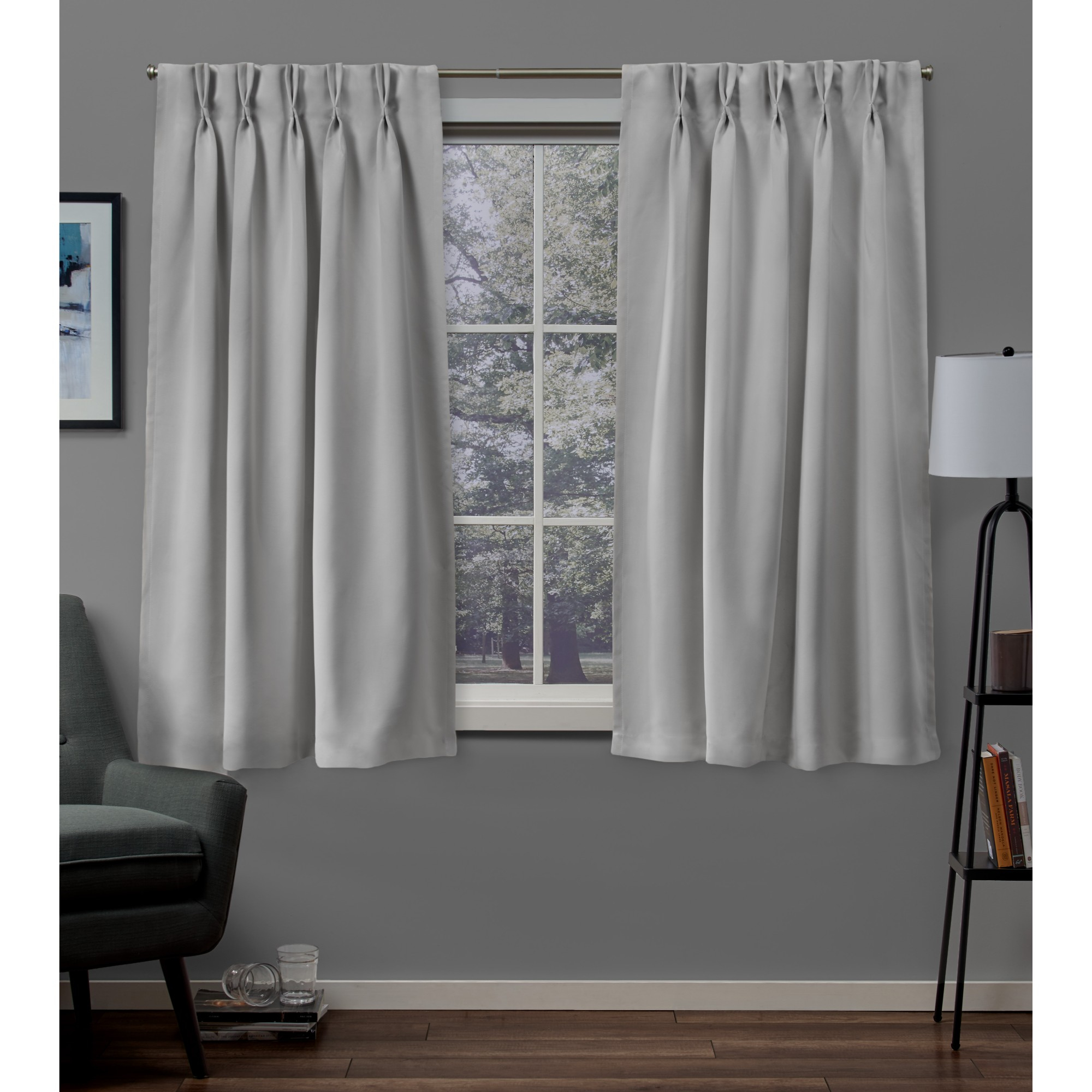Sateen Woven Blackout Pinch Pleat Window Curtain Panel Pair With Regard To Sateen Woven Blackout Curtain Panel Pairs With Pinch Pleat Top (View 18 of 20)