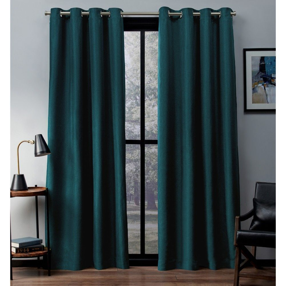 Set Of 2 Eglinton Woven Blackout Grommet Top Window Curtain With Regard To Copper Grove Fulgence Faux Silk Grommet Top Panel Curtains (View 10 of 20)