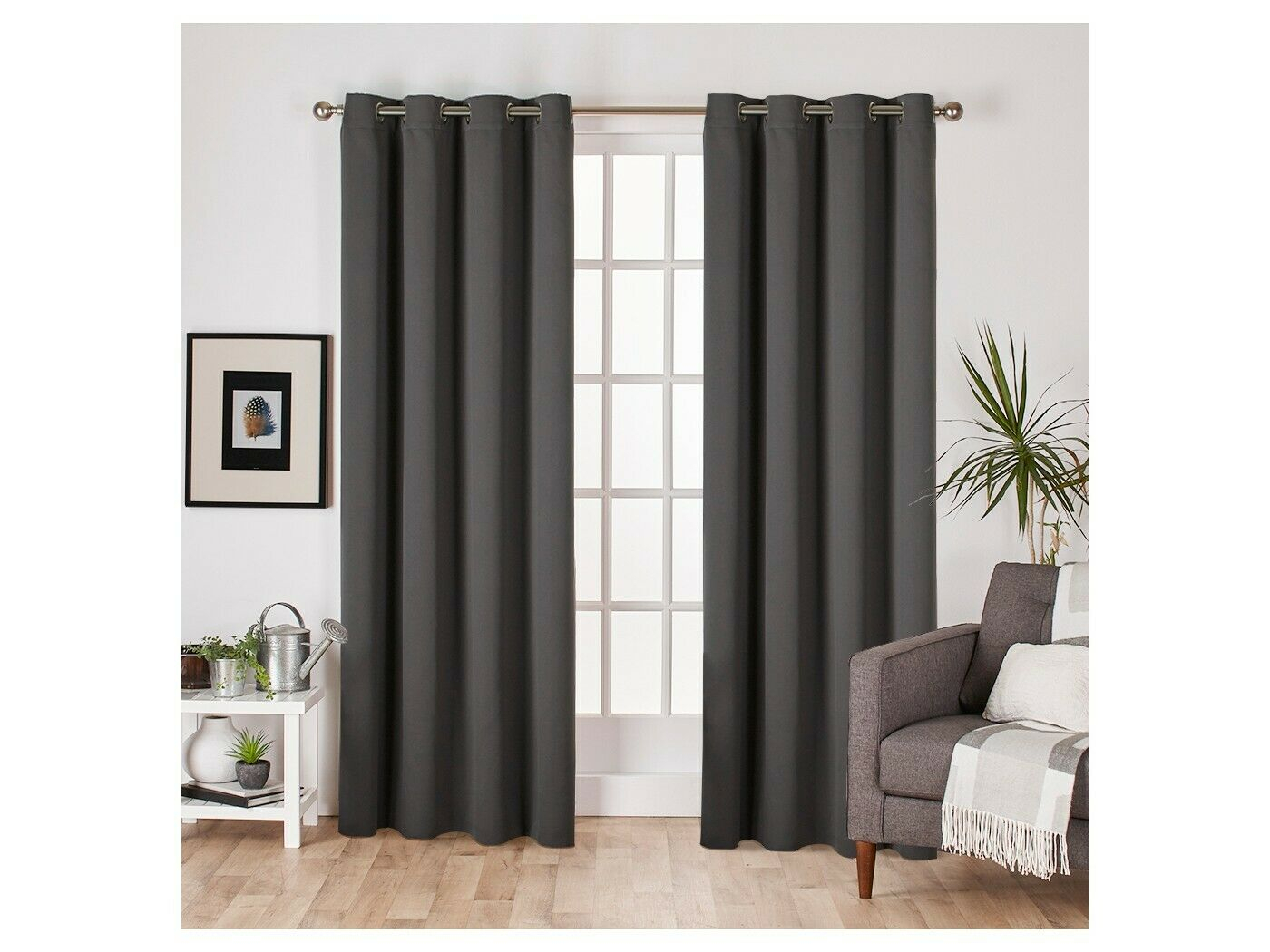Set Of 2 Sateen Twill Weave Insulated Blackout Grommet Top With Regard To Sateen Twill Weave Insulated Blackout Window Curtain Panel Pairs (View 16 of 20)