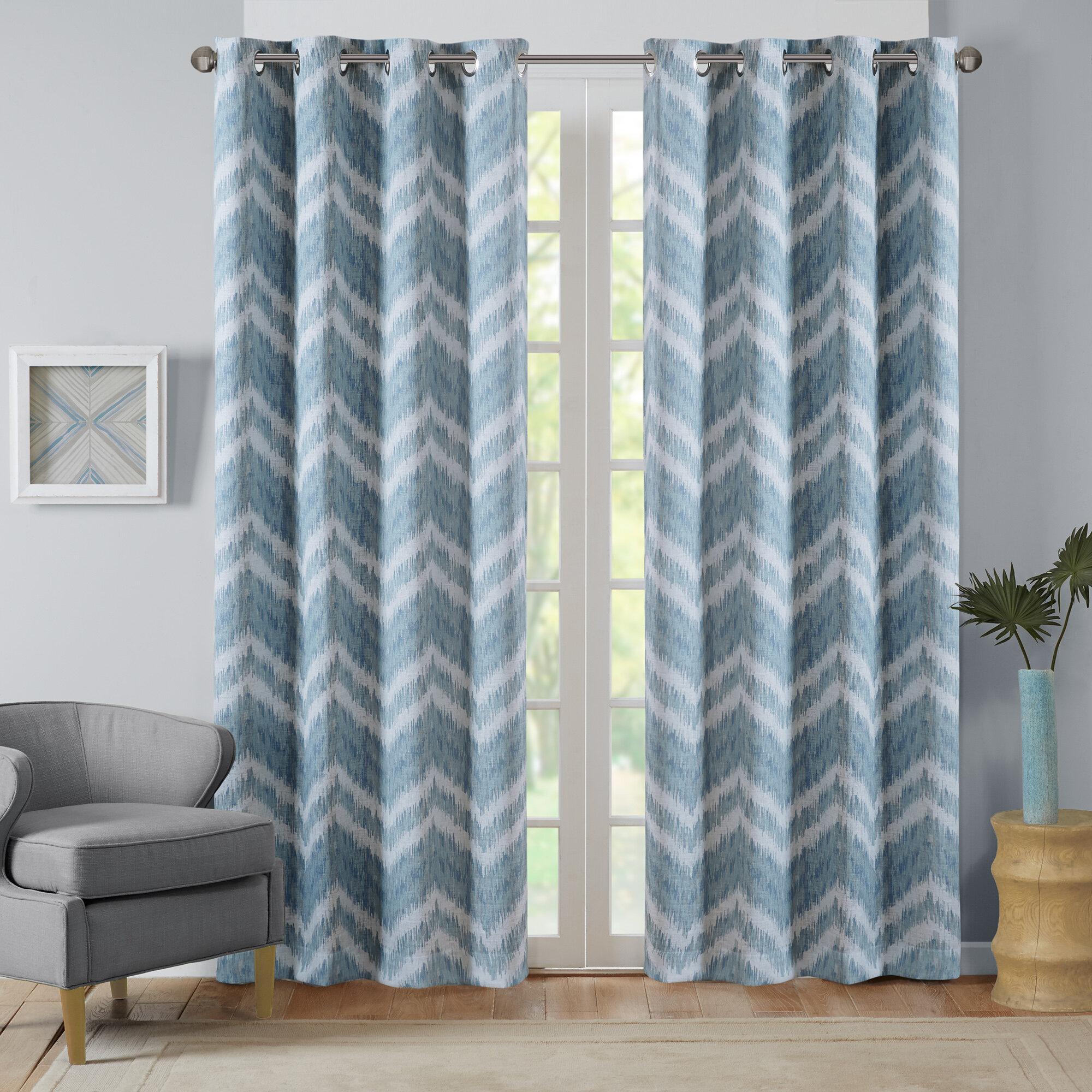 Seto Chevron Max Blackout Grommet Single Curtain Panel For Chevron Blackout Grommet Curtain Panels (View 10 of 20)