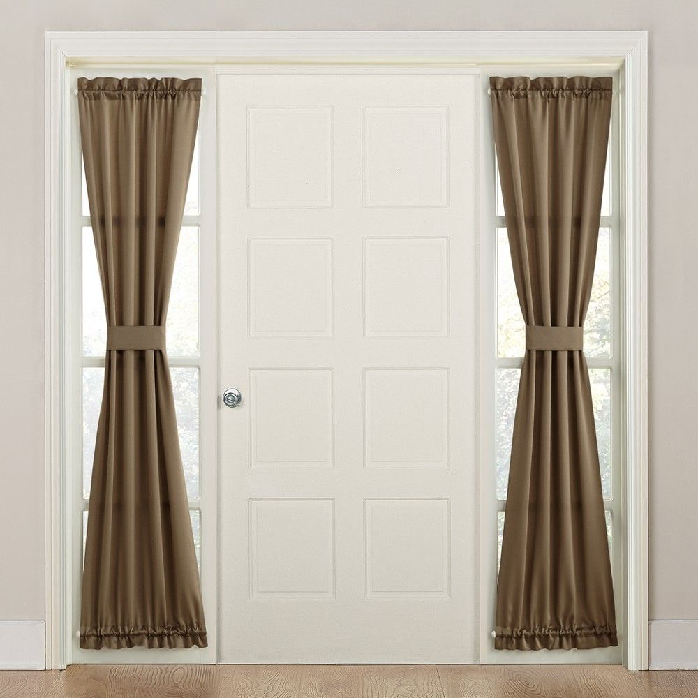 "Seymour Room Darkening Sidelight Curtain Panel Mocha 26""x72 In Nantahala Rod Pocket Room Darkening Patio Door Single Curtain Panels (View 17 of 20)"