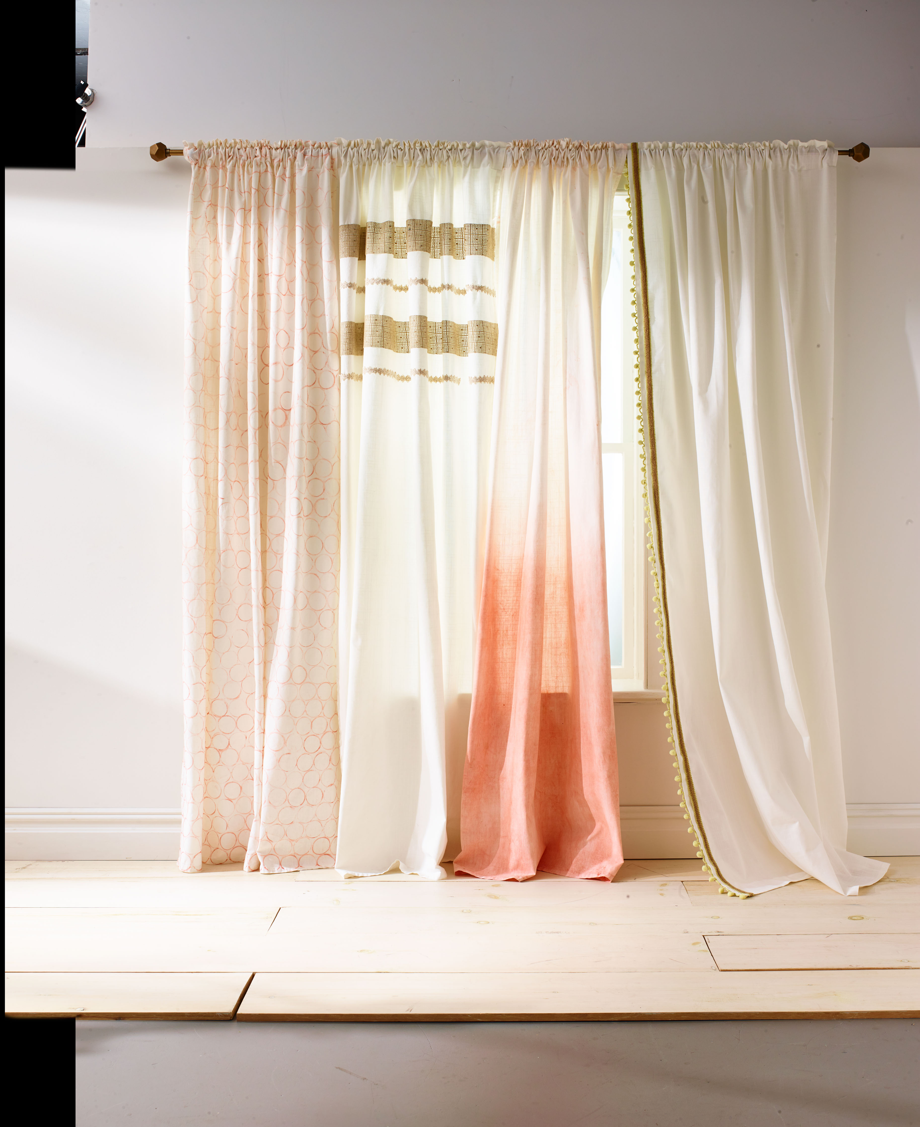 Shade And Curtain Projects To Personalize Your Windows For Tassels Applique Sheer Rod Pocket Top Curtain Panel Pairs (View 30 of 30)