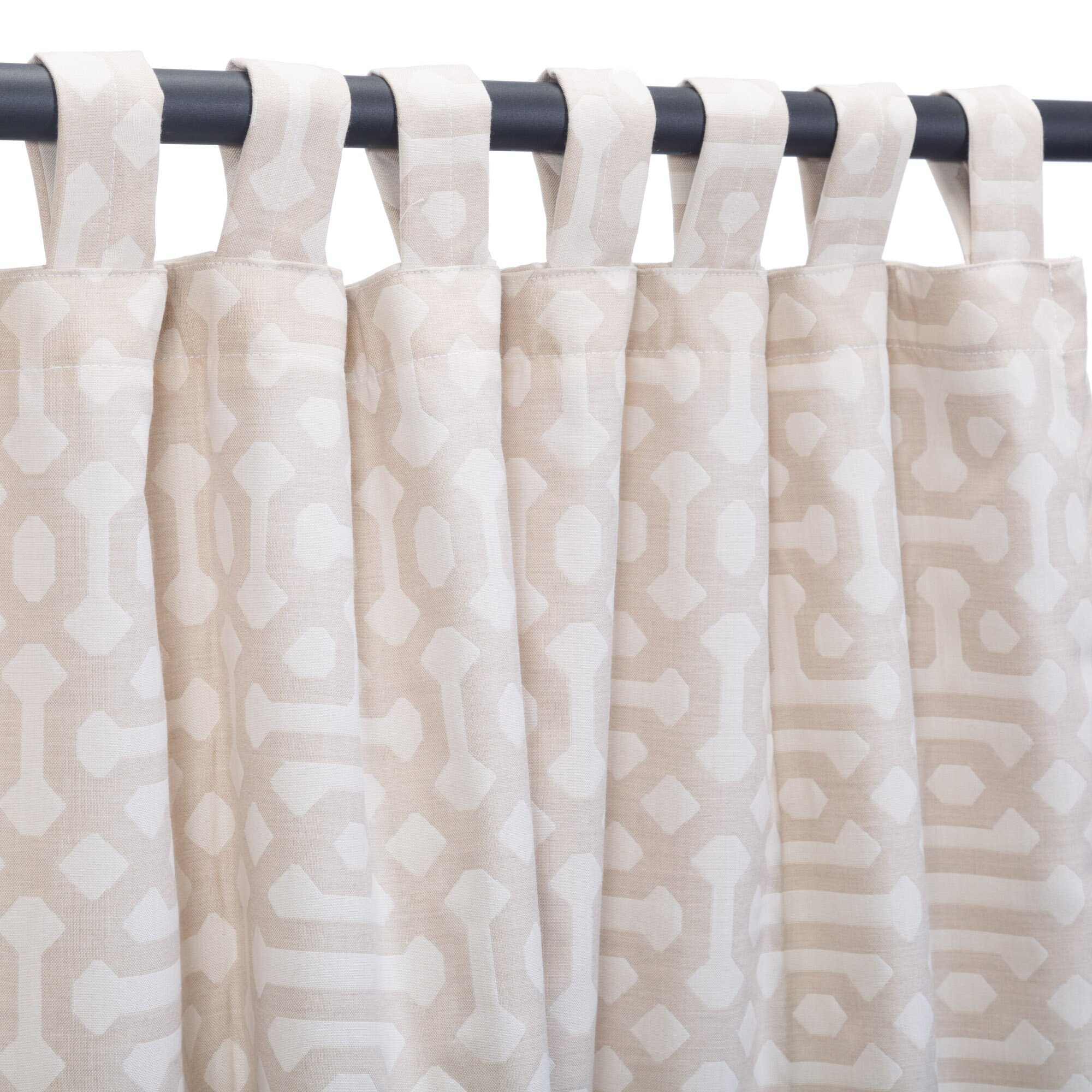 Shanon Outdoor Single Curtain Panel For Fretwork Print Pattern Single Curtain Panels (View 11 of 20)