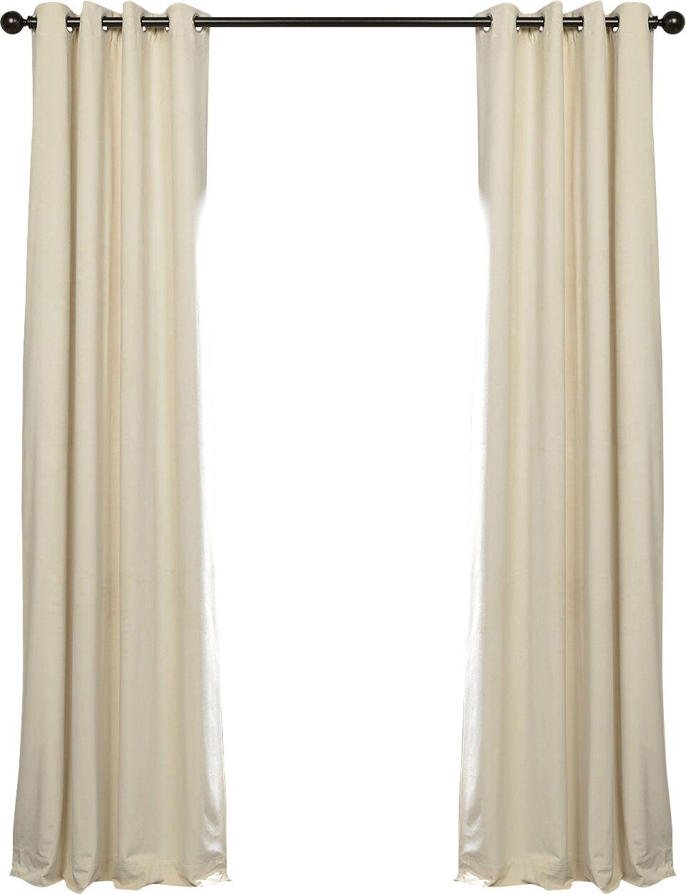 Sharpe Solid Velvet Blackout Grommet Single Curtain Panel With Regard To Heritage Plush Velvet Single Curtain Panels (View 18 of 20)