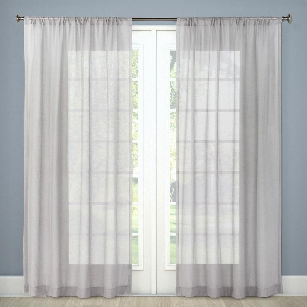 "Sheer Curtain Panel Gray 54""x84"" – Threshold Intended For Chester Polyoni Pintuck Curtain Panels (View 18 of 20)"