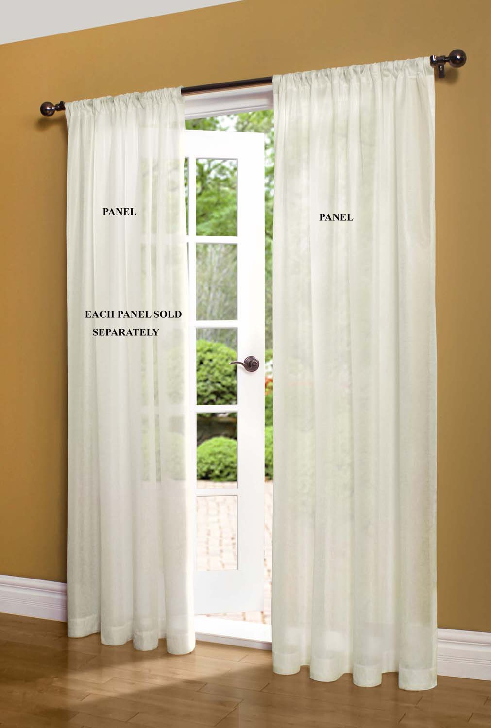 Sheer Window Curtains -Ï¿½Thecurtainshop in Luxury Collection Venetian Sheer Curtain Panel Pairs (Image 17 of 20)