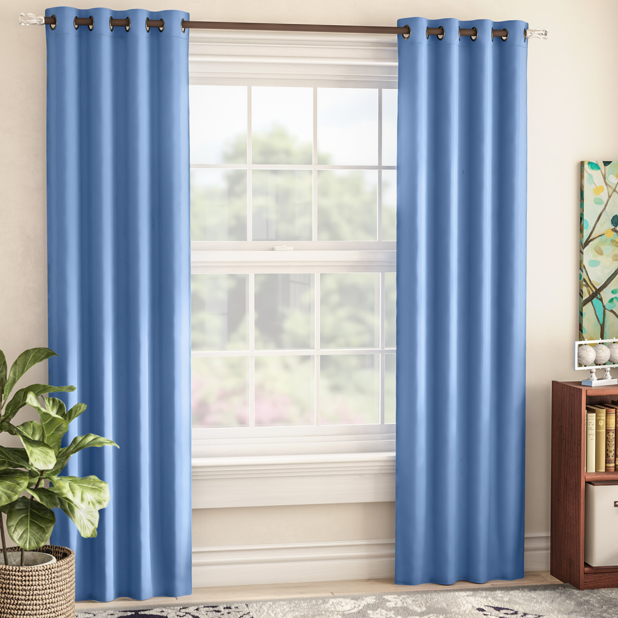 Sheri Solid Blackout Thermal Single Curtain Panel Pertaining To Hayden Grommet Blackout Single Curtain Panels (View 19 of 20)