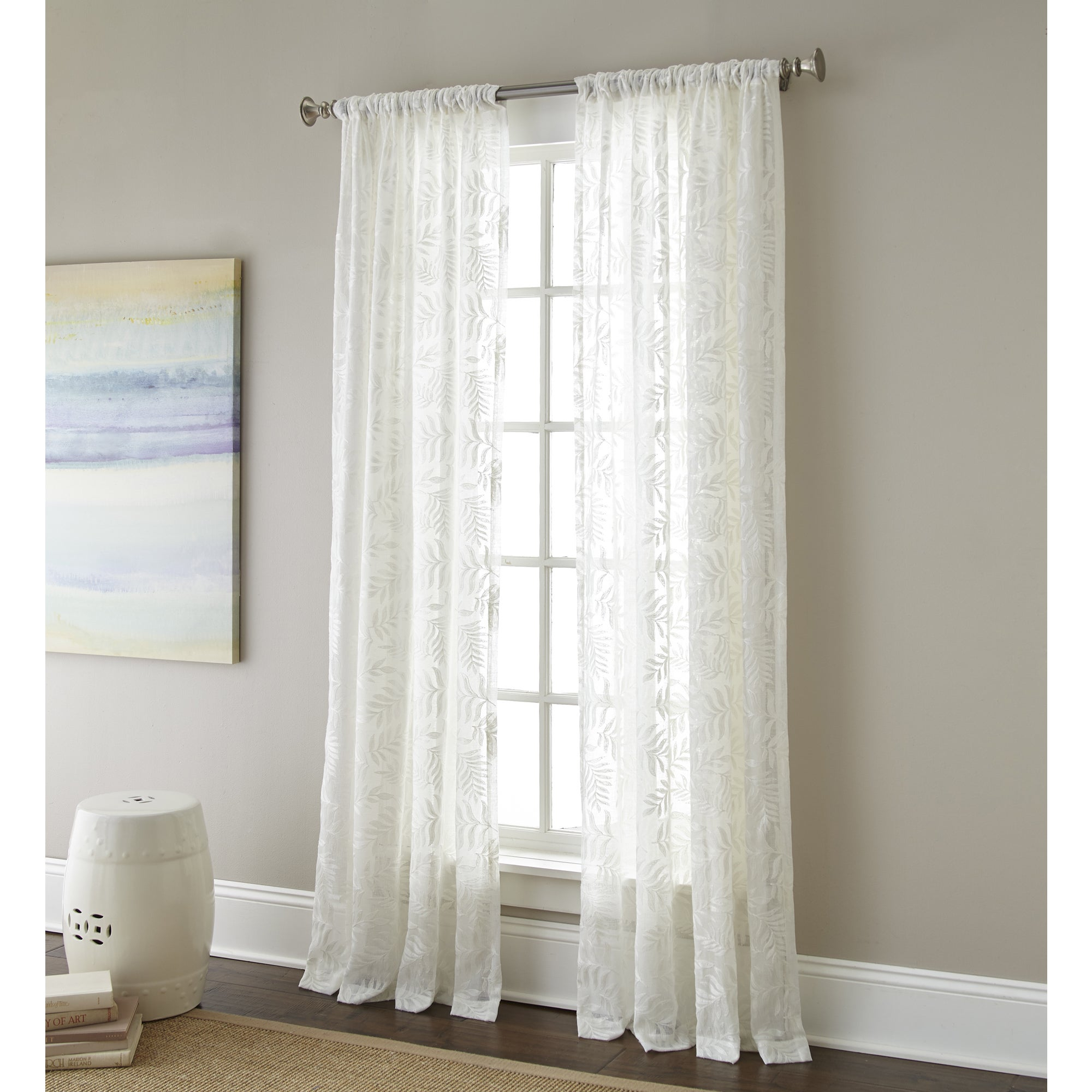 Sherry Kline Ferndale Luxury White Embroidered Sheer Curtain Panel Pair With Regard To Kida Embroidered Sheer Curtain Panels (View 11 of 20)