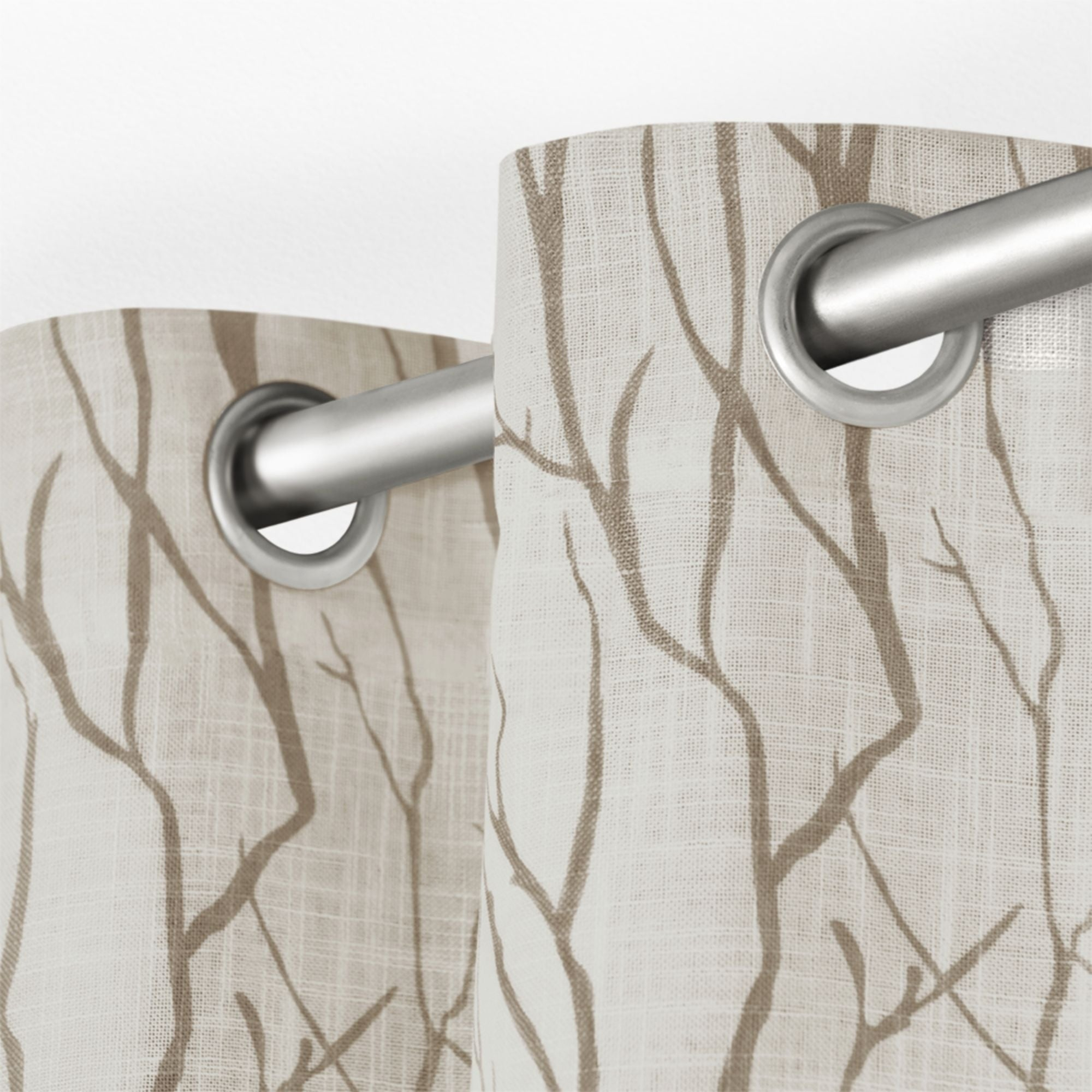 Shop Ati Home Oakdale Textured Linen Sheer Grommet Top For Oakdale Textured Linen Sheer Grommet Top Curtain Panel Pairs (View 7 of 20)