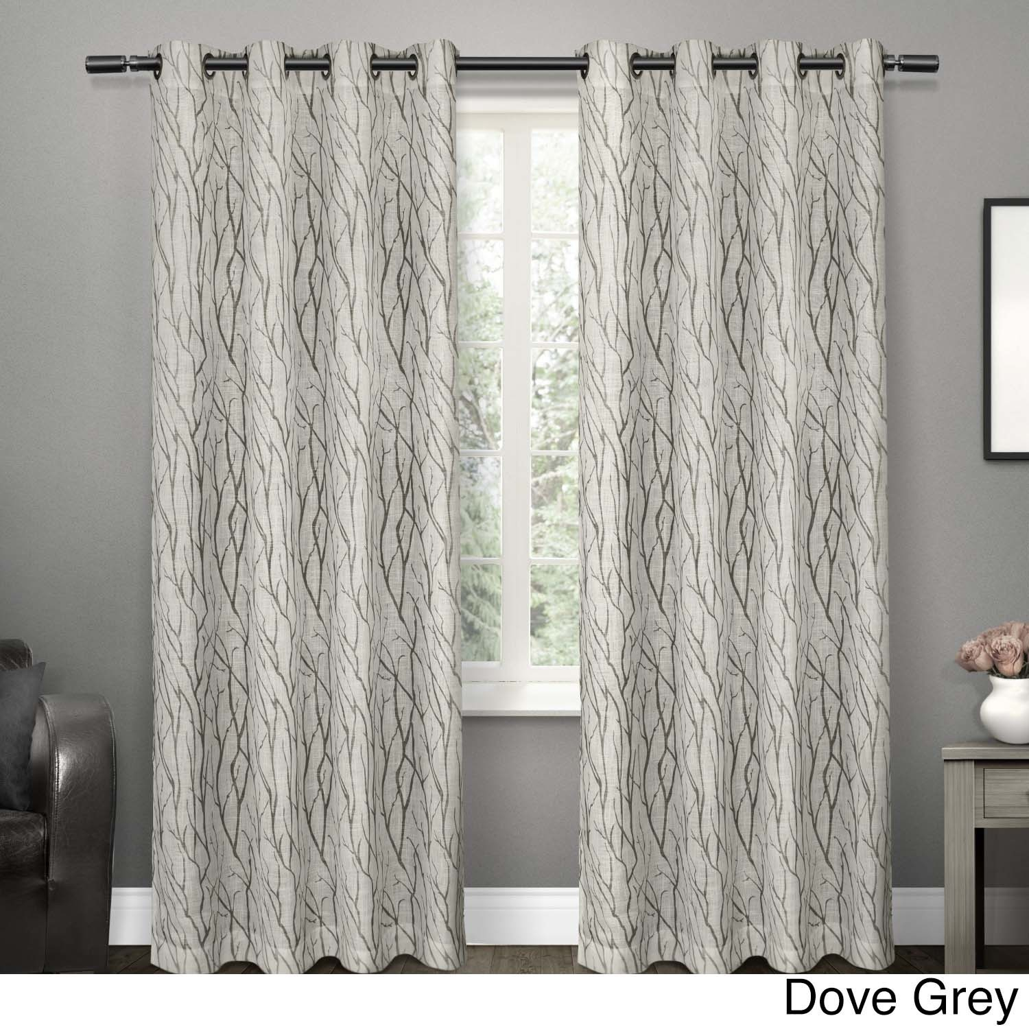 Shop Ati Home Oakdale Textured Linen Sheer Grommet Top Within Oakdale Textured Linen Sheer Grommet Top Curtain Panel Pairs (View 2 of 20)