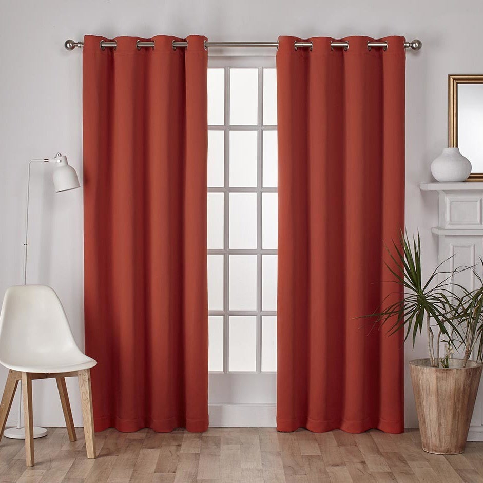 Popular Photo of Sateen Twill Weave Insulated Blackout Window Curtain Panel Pairs
