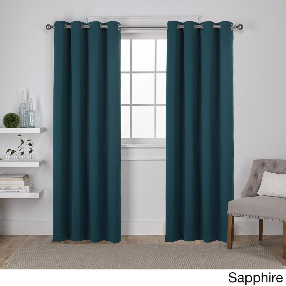 Shop Ati Home Sateen Twill Woven Blackout Window Curtain Pertaining To Sateen Twill Weave Insulated Blackout Window Curtain Panel Pairs (View 18 of 20)