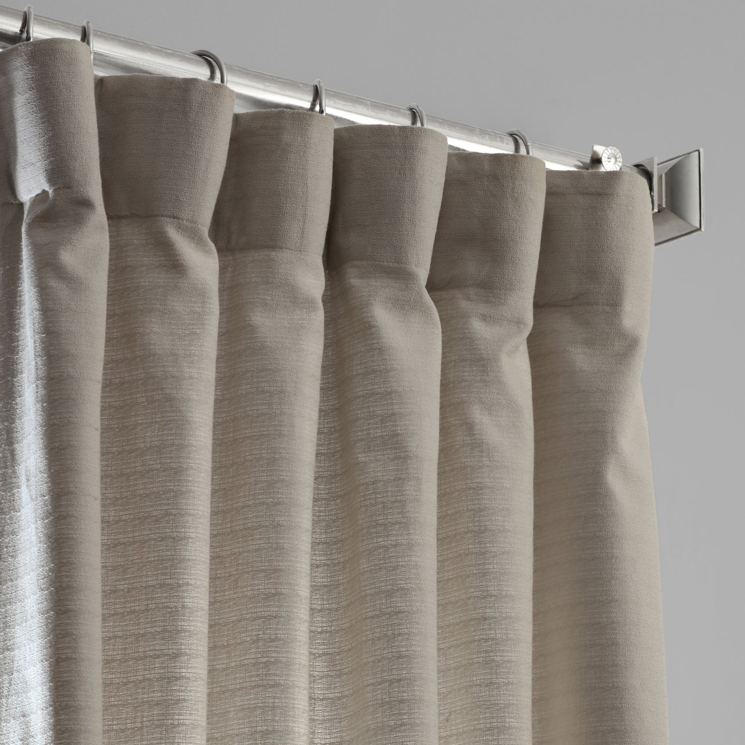 Shop Exclusive Fabrics Bark Weave Solid Cotton Curtain – On For Bark Weave Solid Cotton Curtains (View 8 of 20)