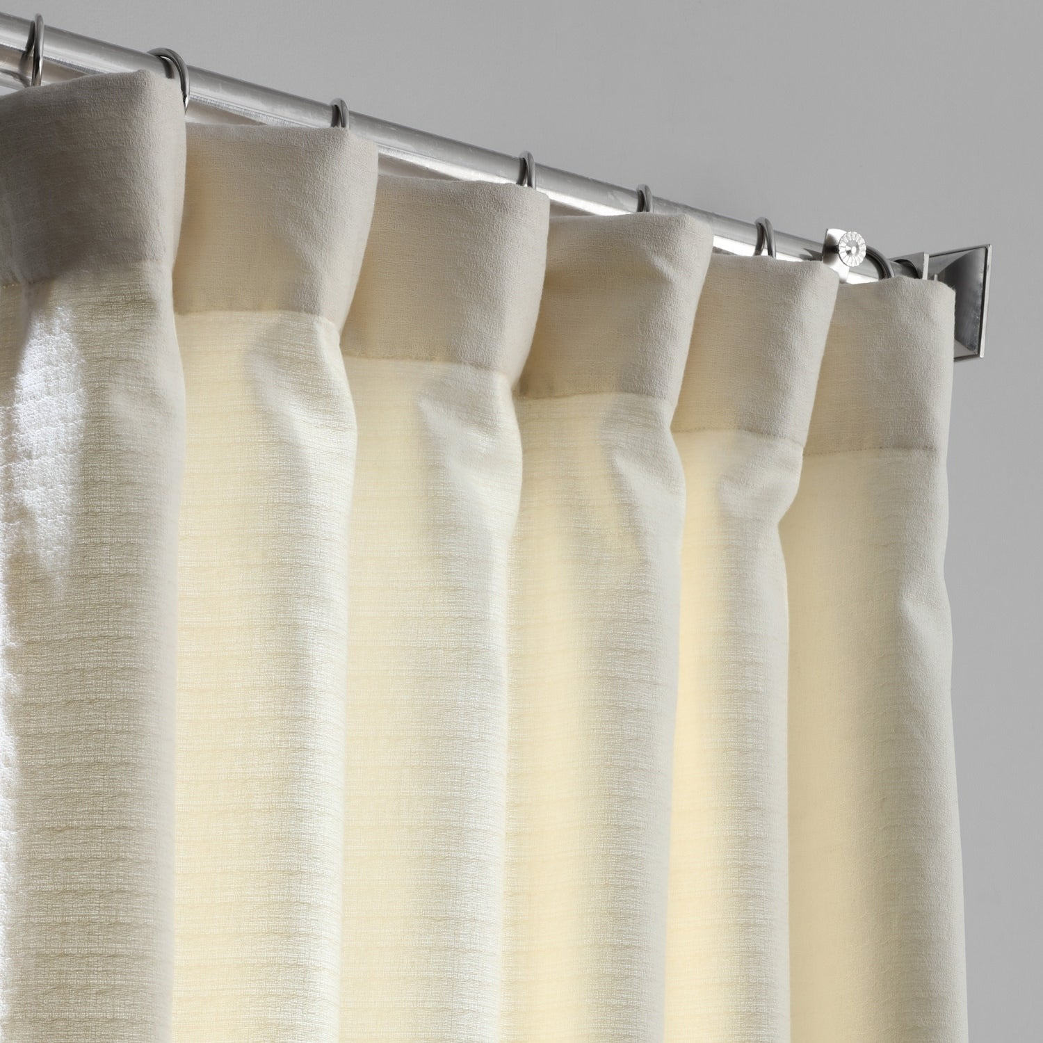 Shop Exclusive Fabrics Bark Weave Solid Cotton Curtain – On For Bark Weave Solid Cotton Curtains (View 12 of 20)