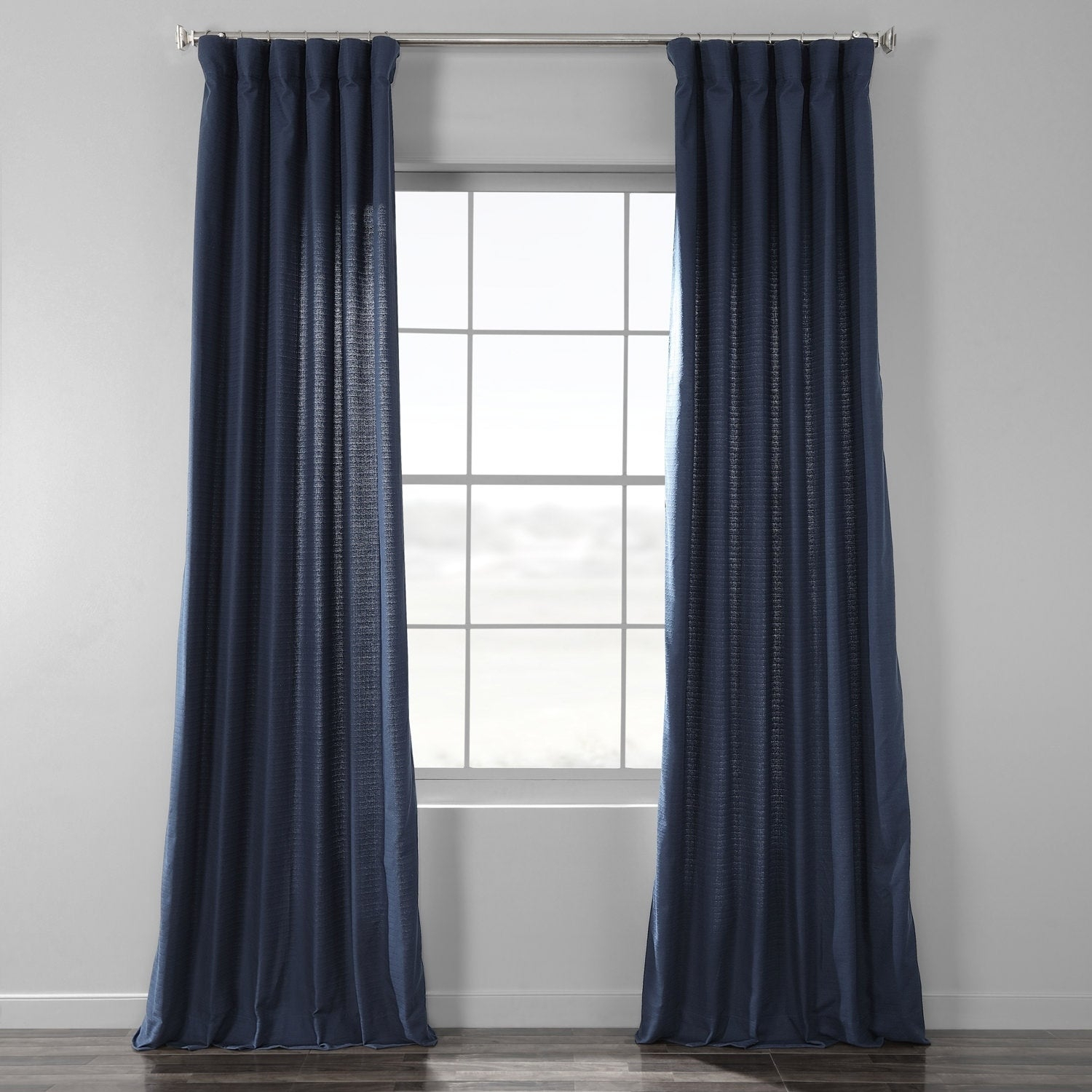 Shop Exclusive Fabrics Bark Weave Solid Cotton Curtain – On For Bark Weave Solid Cotton Curtains (View 6 of 20)