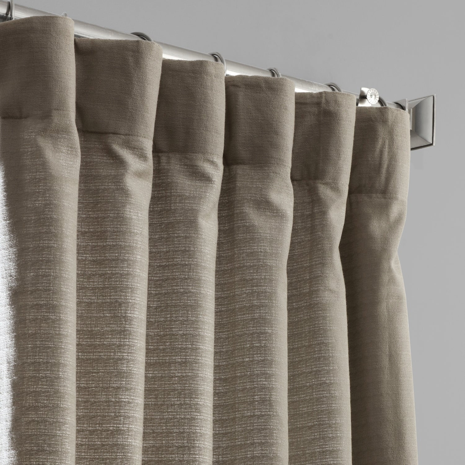 Shop Exclusive Fabrics Bark Weave Solid Cotton Curtain – On Regarding Bark Weave Solid Cotton Curtains (View 10 of 20)