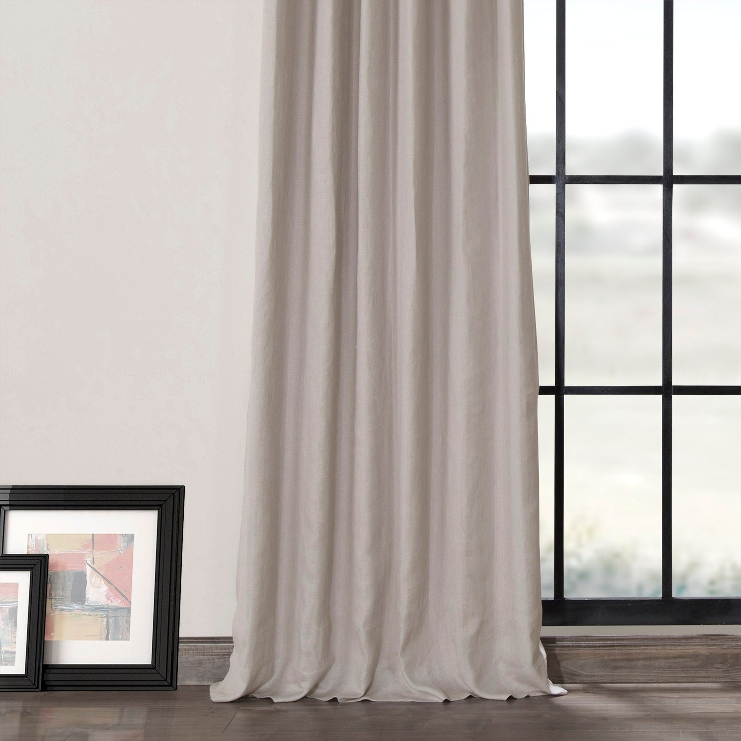 Shop Exclusive Fabrics French Linen Lined Curtain Panel Inside French Linen Lined Curtain Panels (View 11 of 20)