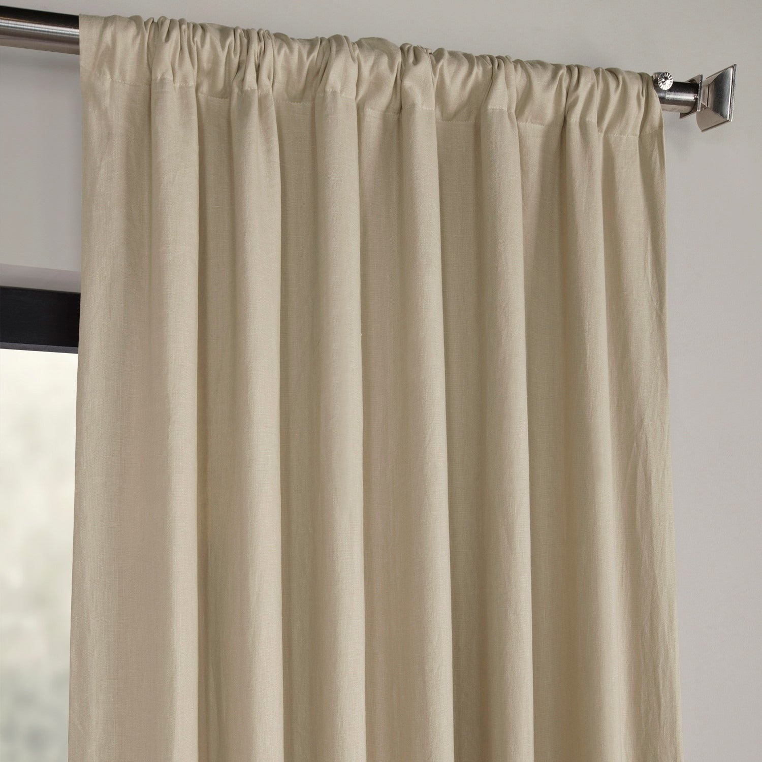 Shop Exclusive Fabrics French Linen Lined Curtain Panel Inside French Linen Lined Curtain Panels (View 9 of 20)
