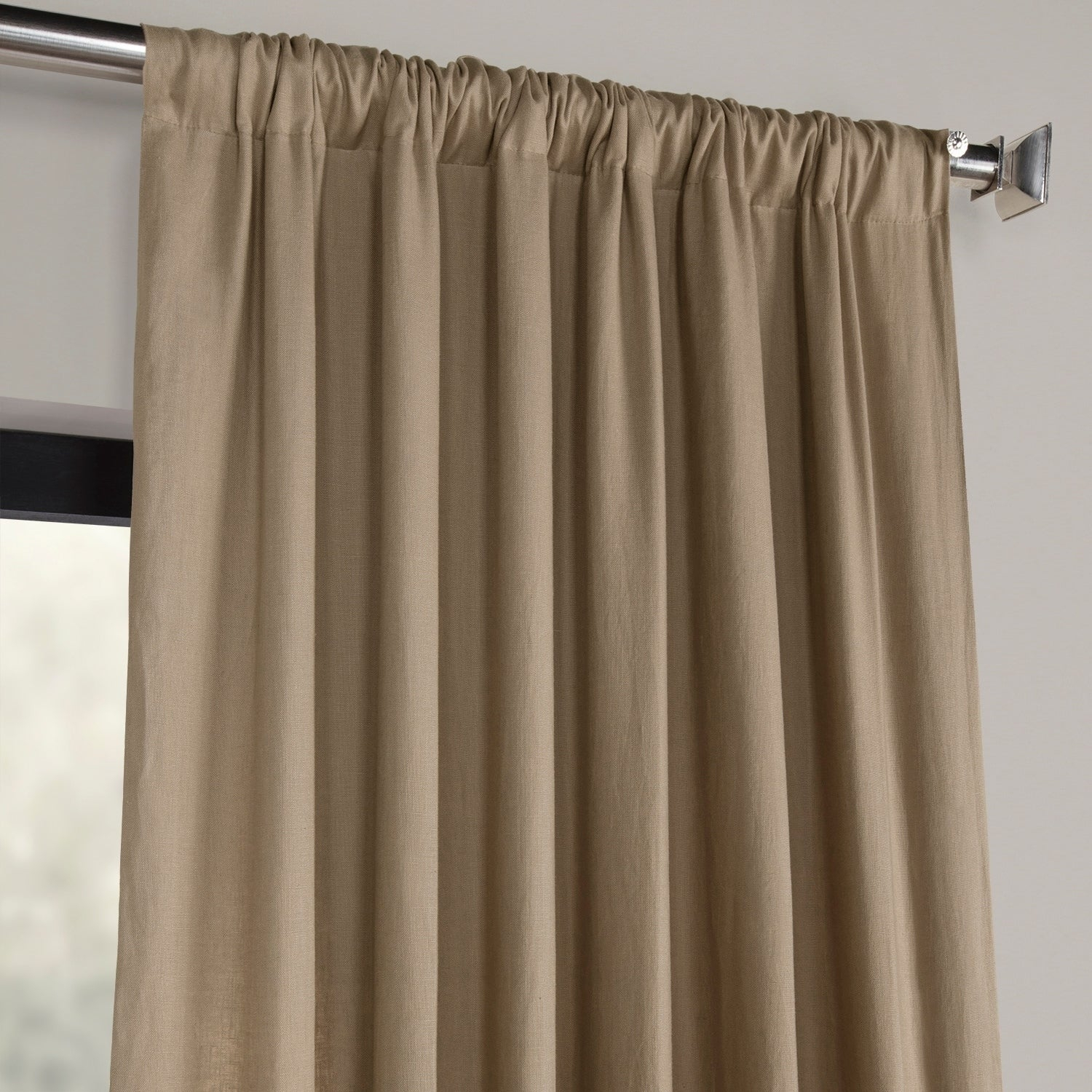 Shop Exclusive Fabrics French Linen Lined Curtain Panel With French Linen Lined Curtain Panels (View 13 of 20)