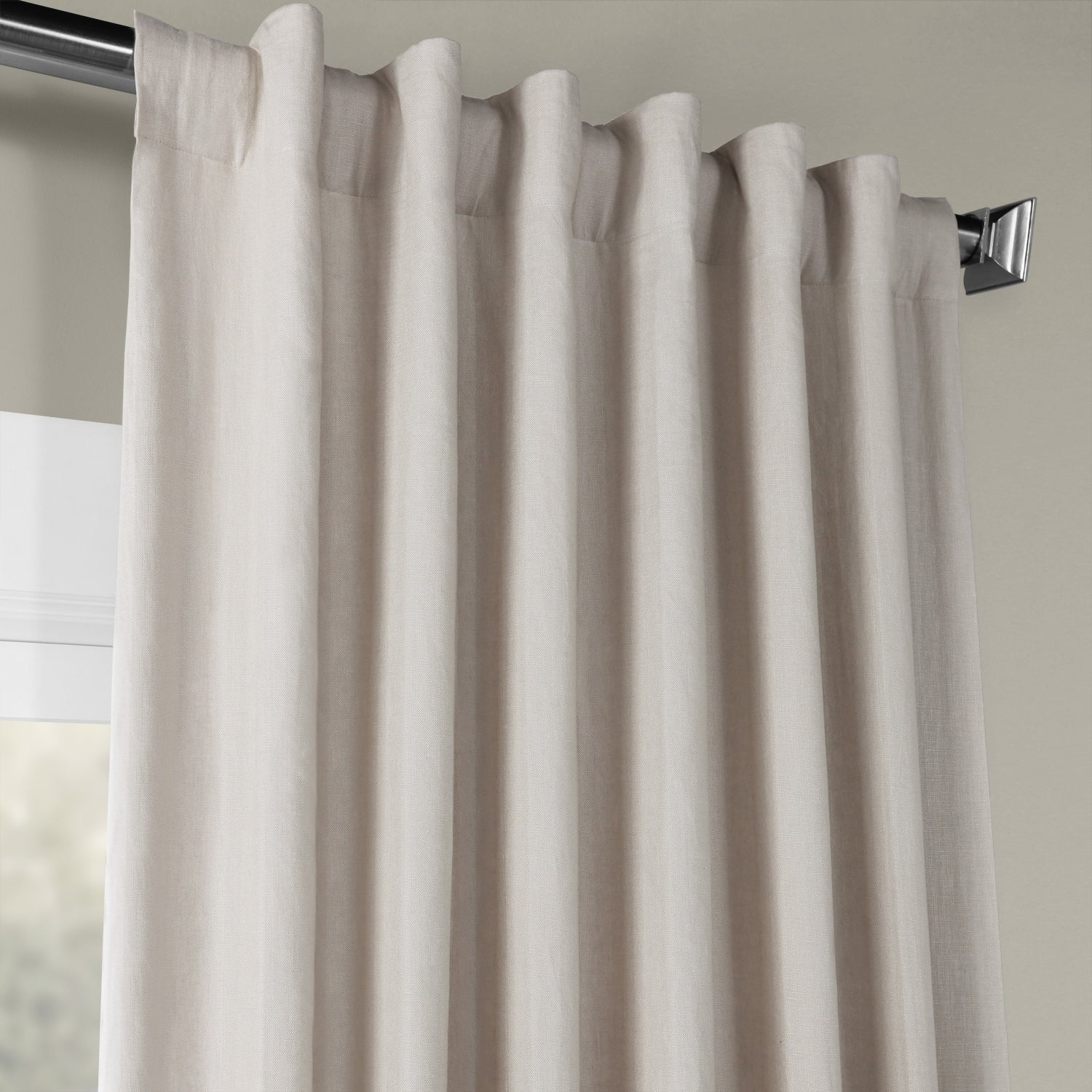 Shop Exclusive Fabrics French Linen Lined Curtain Panel With Regard To French Linen Lined Curtain Panels (View 20 of 20)