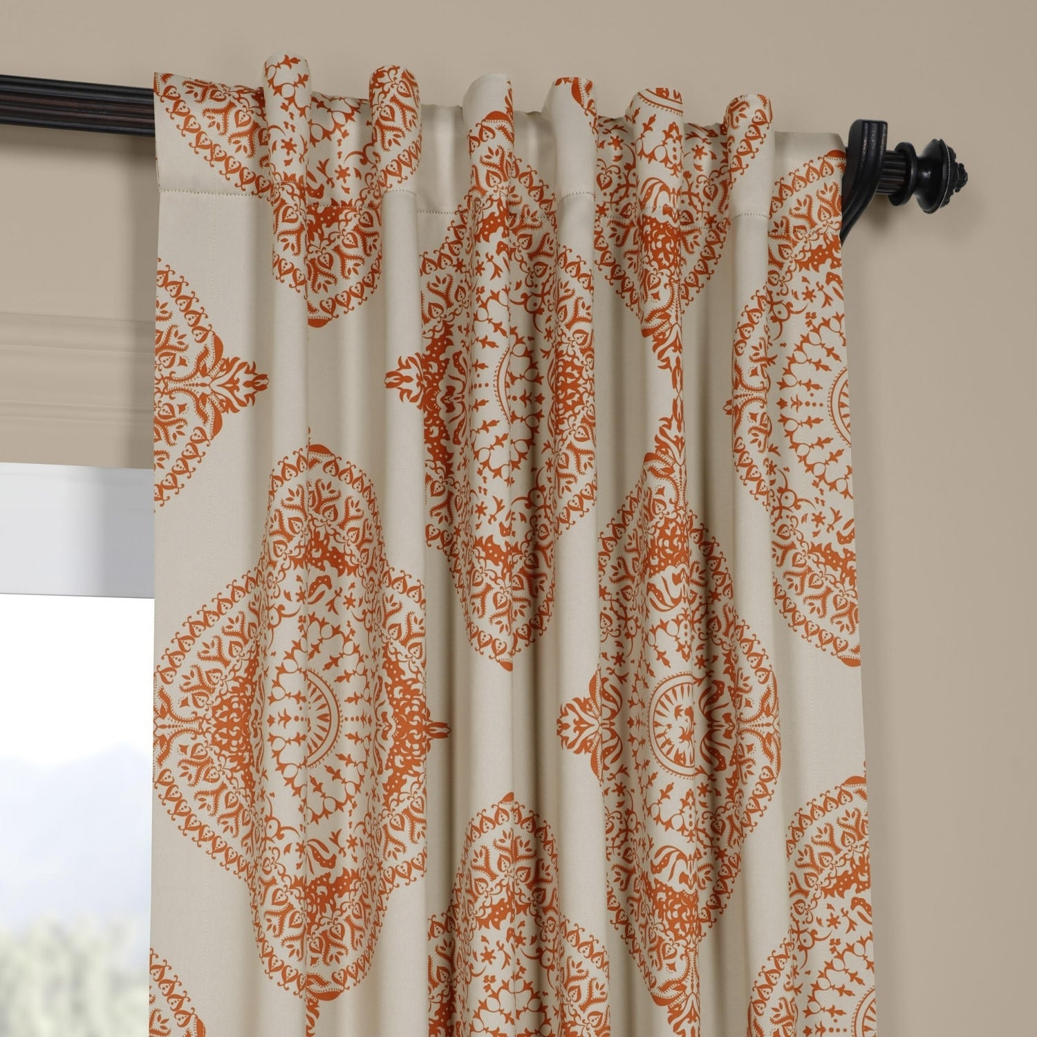 Shop Moroccan Style Thermal Insulated Blackout Curtain Panel Pertaining To Moroccan Style Thermal Insulated Blackout Curtain Panel Pairs (View 11 of 20)