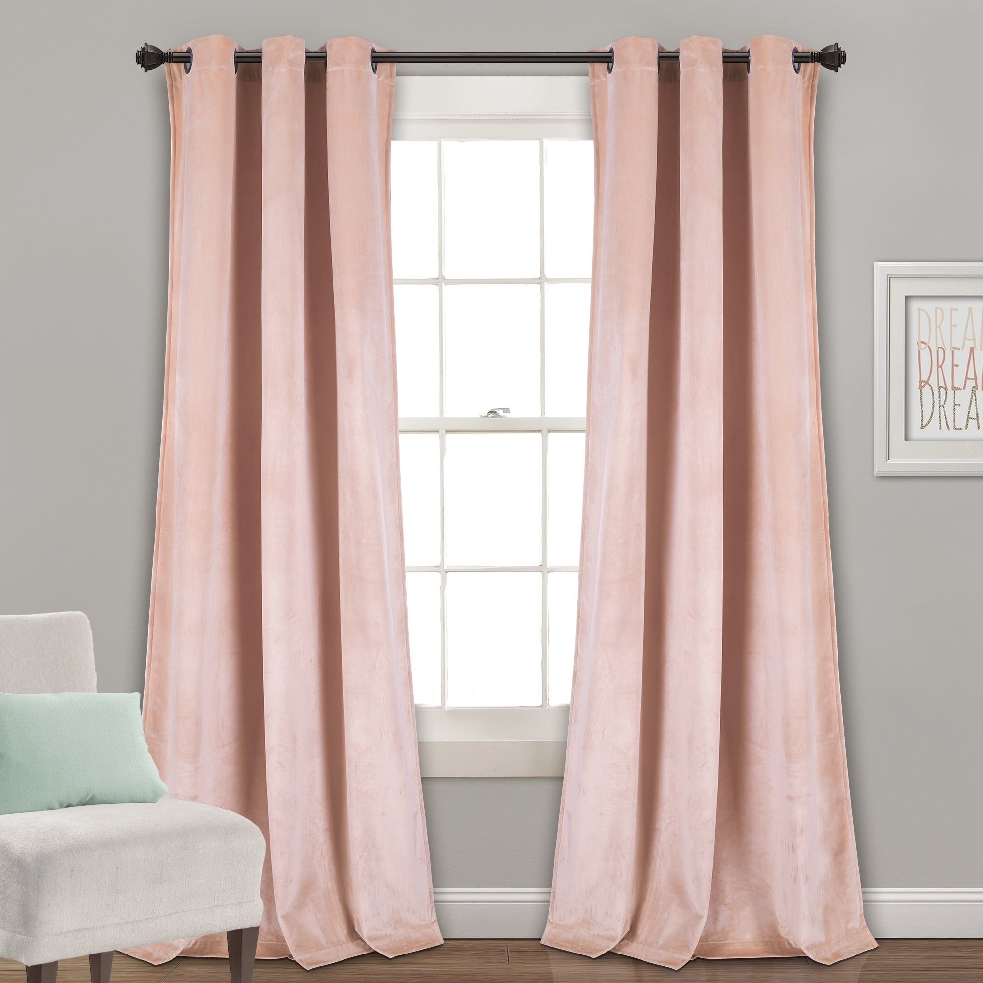 Shop Porch & Den Lapeyrous Velvet Solid Room Darkening With Velvet Solid Room Darkening Window Curtain Panel Sets (View 6 of 30)