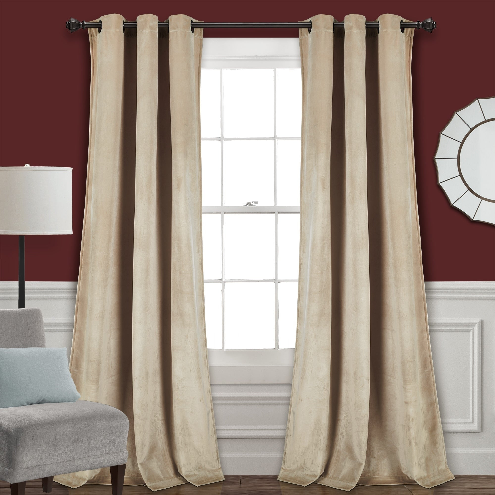 Featured Photo of Velvet Solid Room Darkening Window Curtain Panel Sets