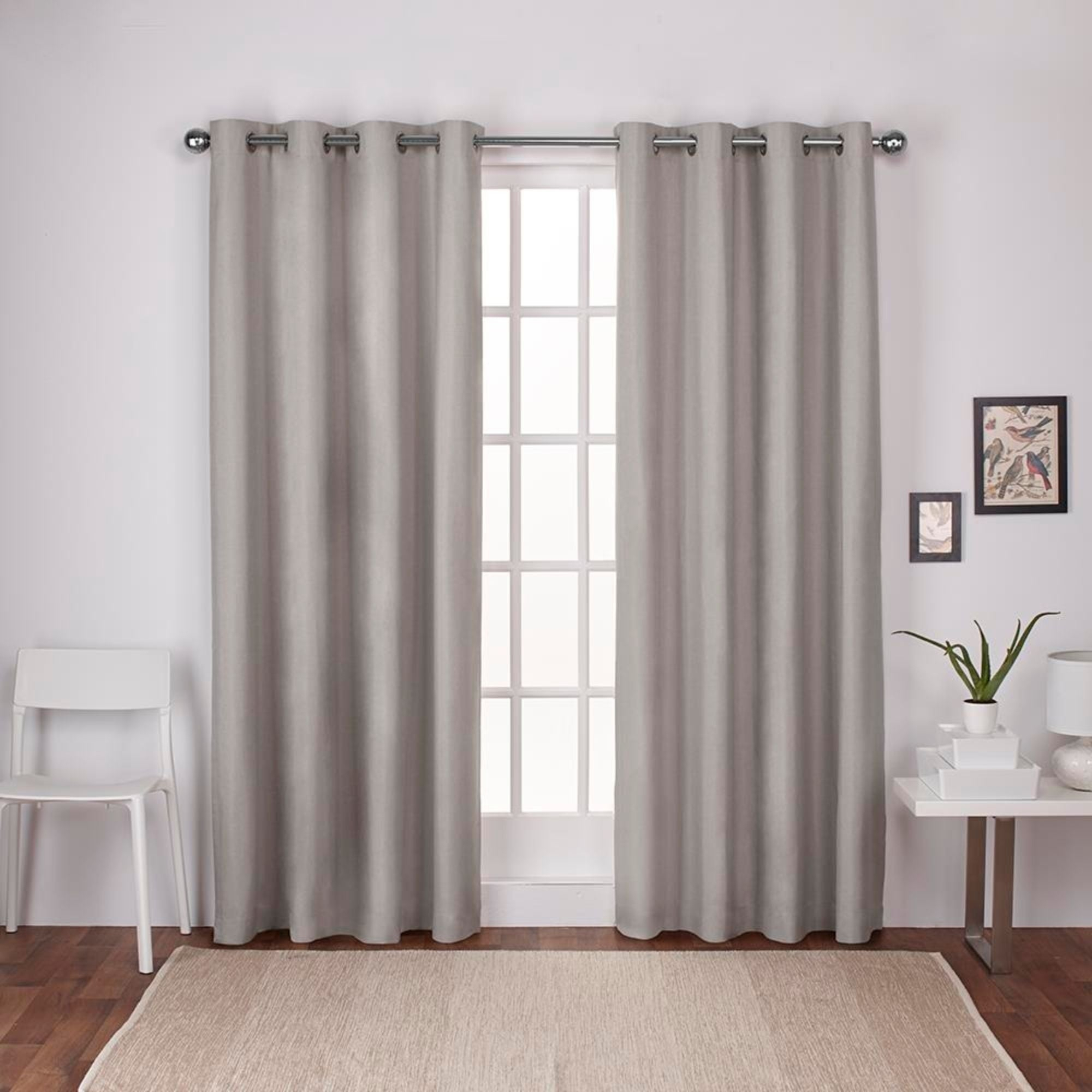 Shop Strick & Bolton Lewitt Thermal Textured Linen Grommet With Regard To Thermal Textured Linen Grommet Top Curtain Panel Pairs (View 3 of 30)