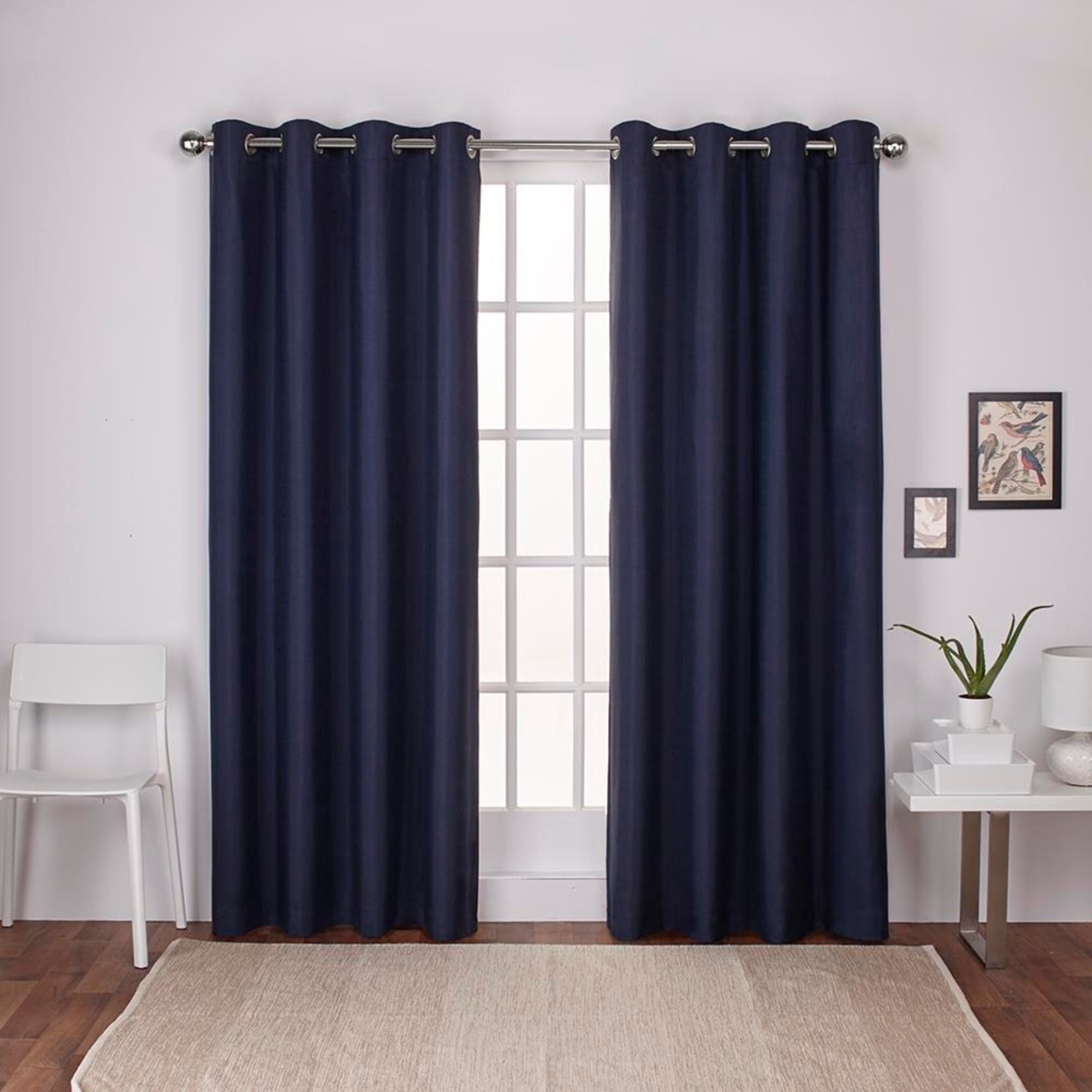 Shop Strick & Bolton Lewitt Thermal Textured Linen Grommet With Thermal Textured Linen Grommet Top Curtain Panel Pairs (View 8 of 30)