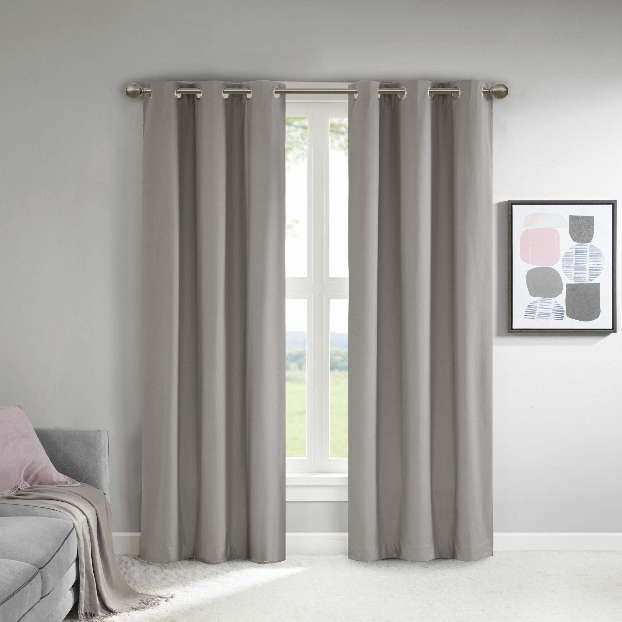 Sierra Solid Color Blackout Thermal Grommet Curtain Panels With Solid Thermal Insulated Blackout Curtain Panel Pairs (View 12 of 30)