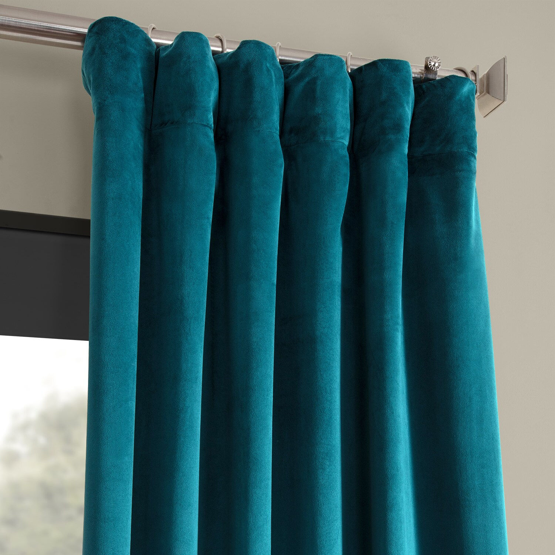 Signature Blackout Velvet Curtains (Sold Per Panel) For Signature Ivory Velvet Blackout Single Curtain Panels (View 25 of 34)