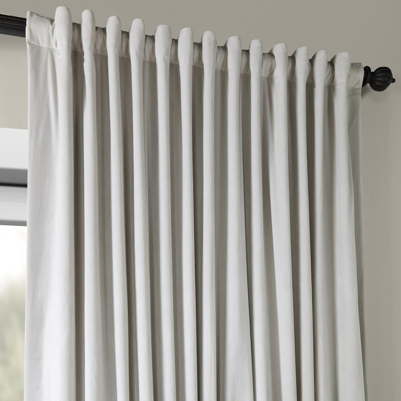 Signature Double Wide Velvet Blackout Curtain | Flisol Home With Signature Ivory Velvet Blackout Single Curtain Panels (View 26 of 34)
